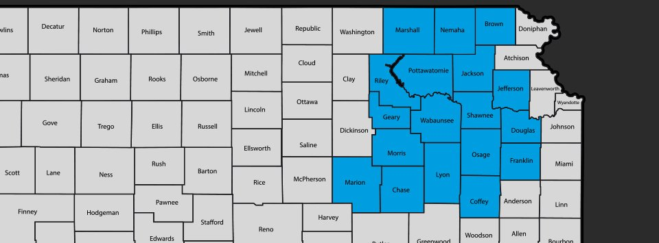 Roy V. Uhl Company, Inc. service area map