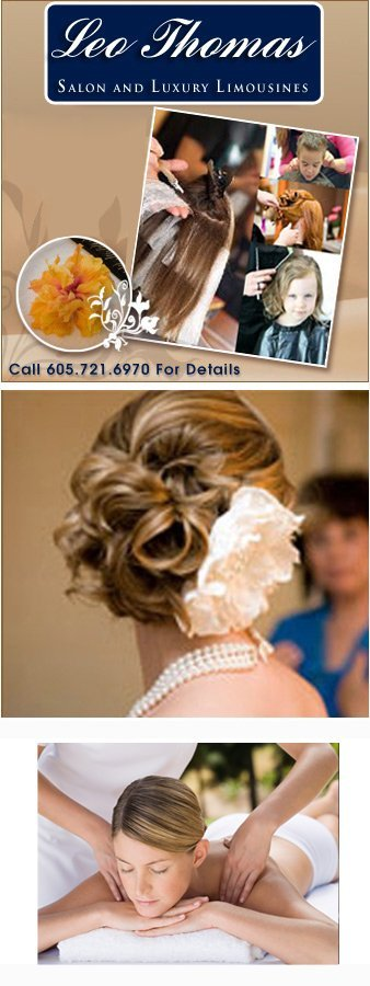 Mention this web coupon when visiting our location. Leo Thomas Salon & Spa, Call 605.721.6970 For Details