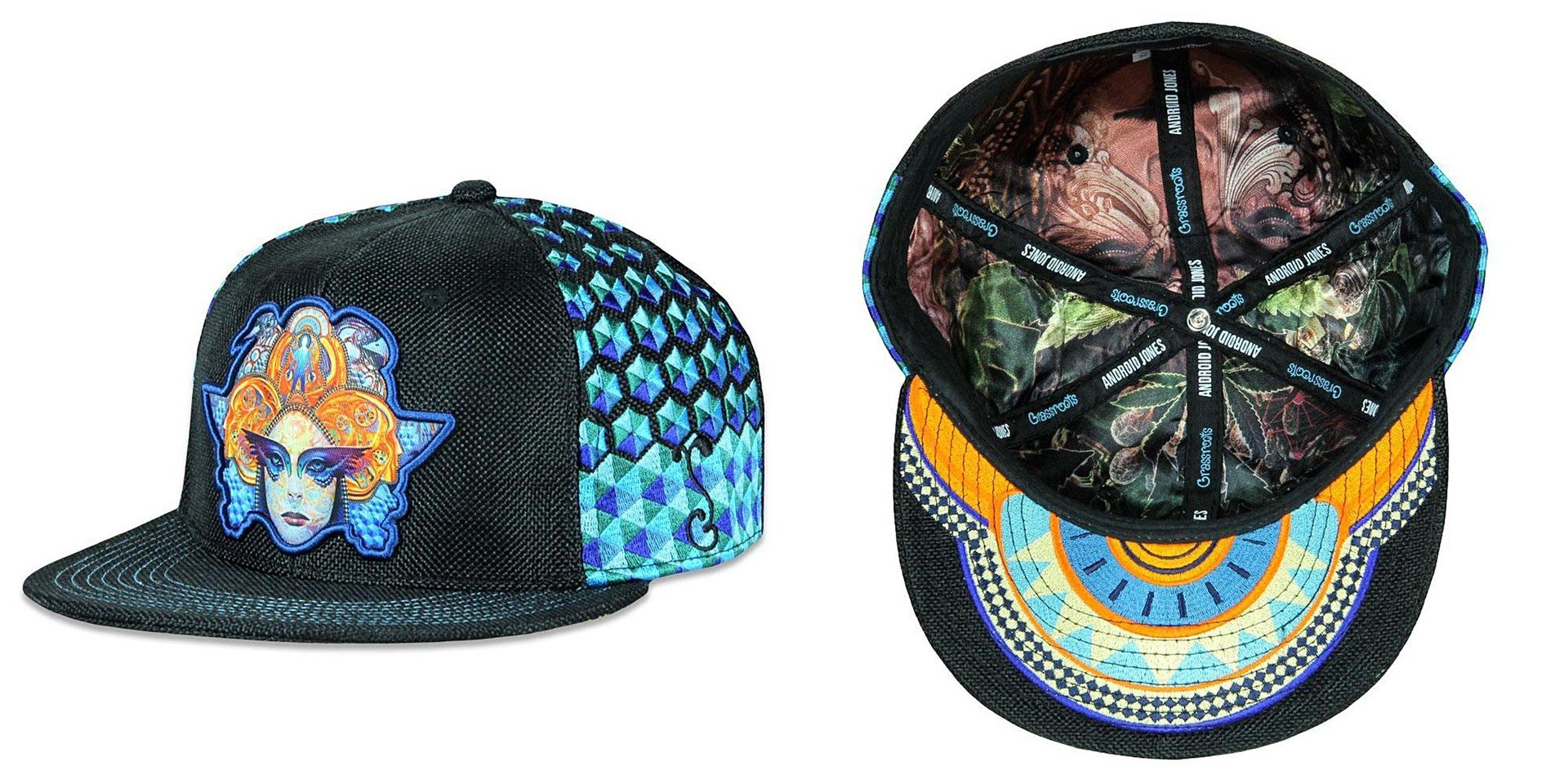7a2078a0 Android Jones 11/11/11 Black Fitted Grassroots California Hat