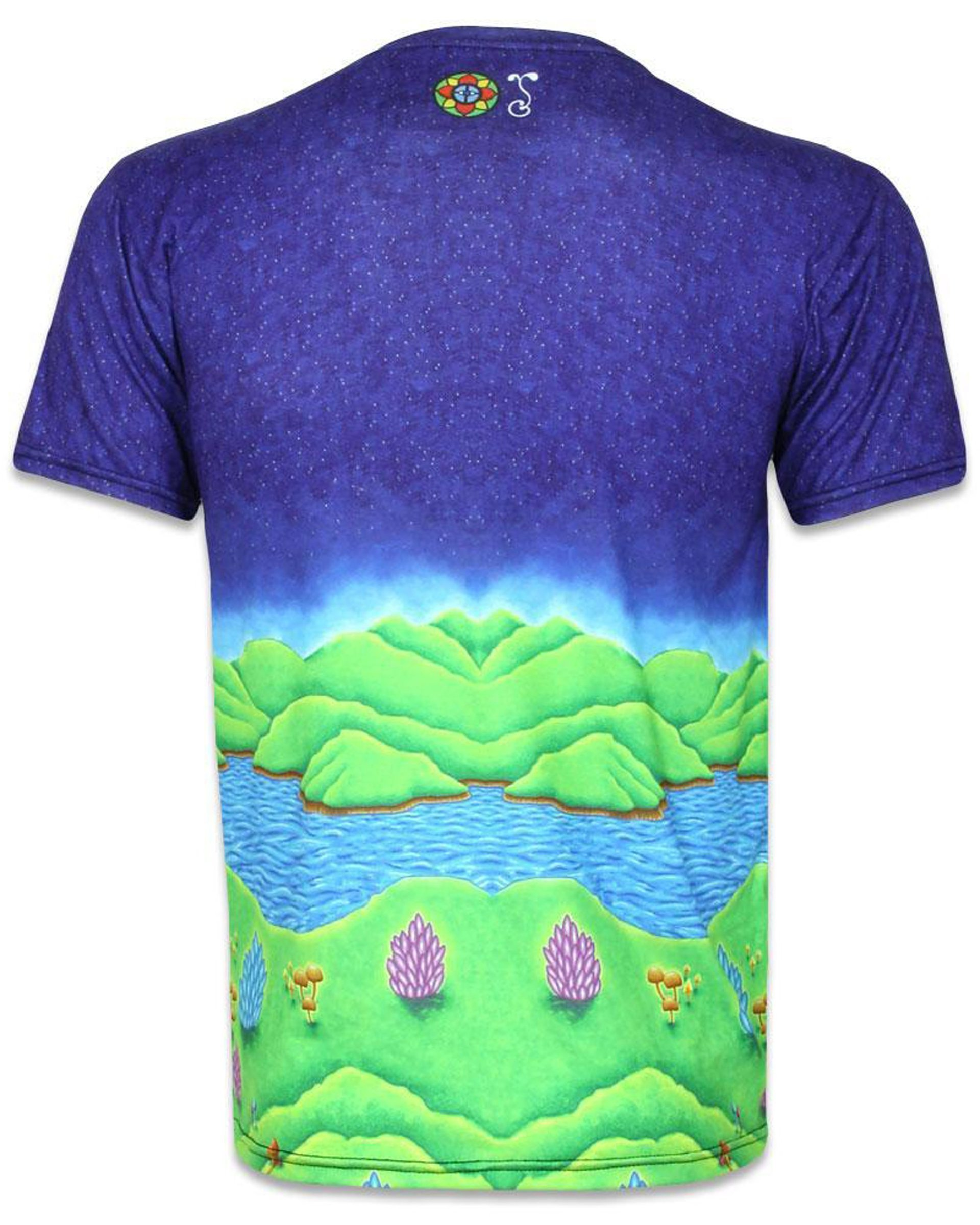 81f507b4 Muncher of Mushroomland Short Sleeve Men's T-Shirt (Back)