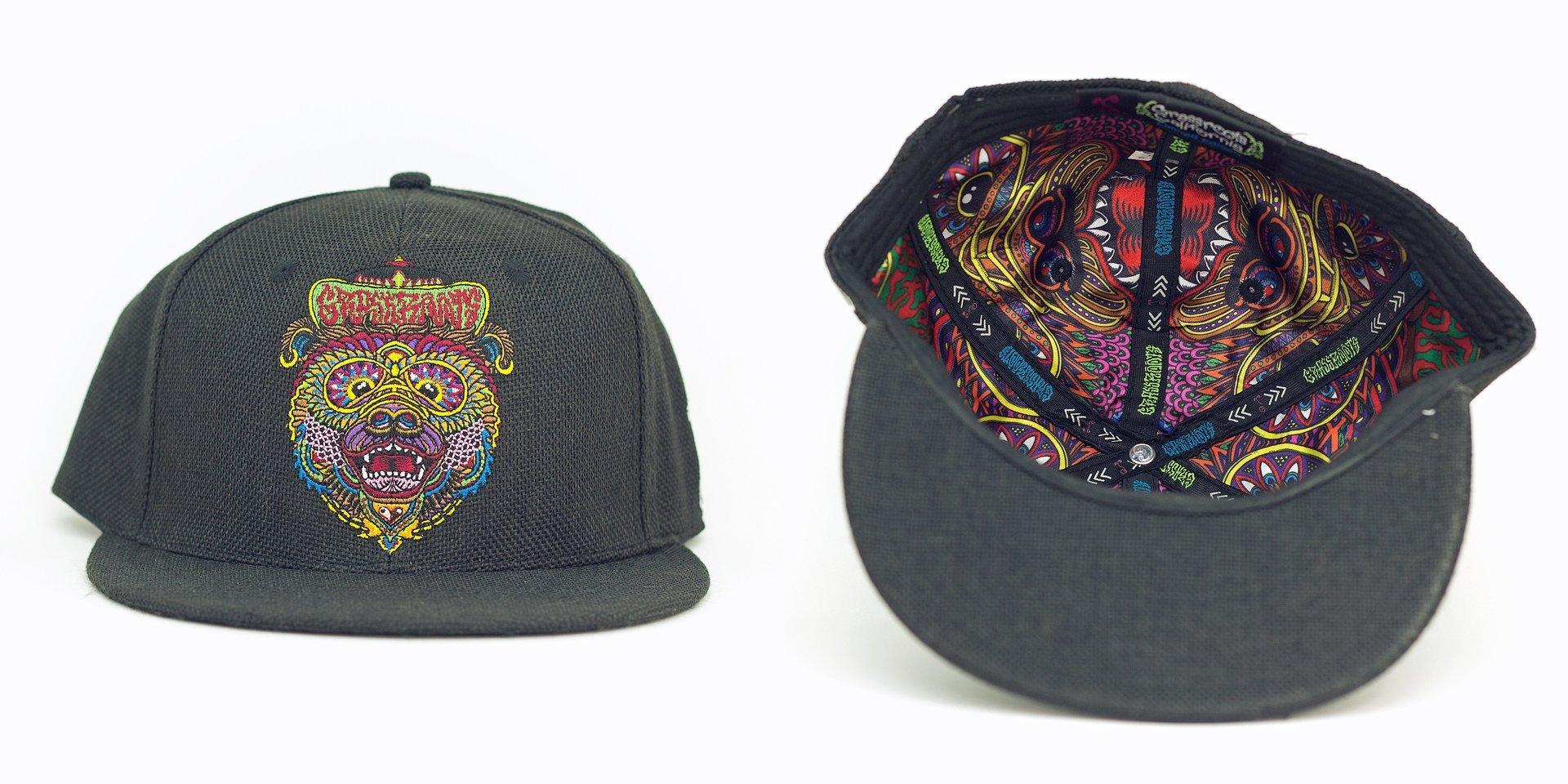 Chris Dyer OG Bear Black Hemp Fitted Grassroots California Hat 204b54a244a2