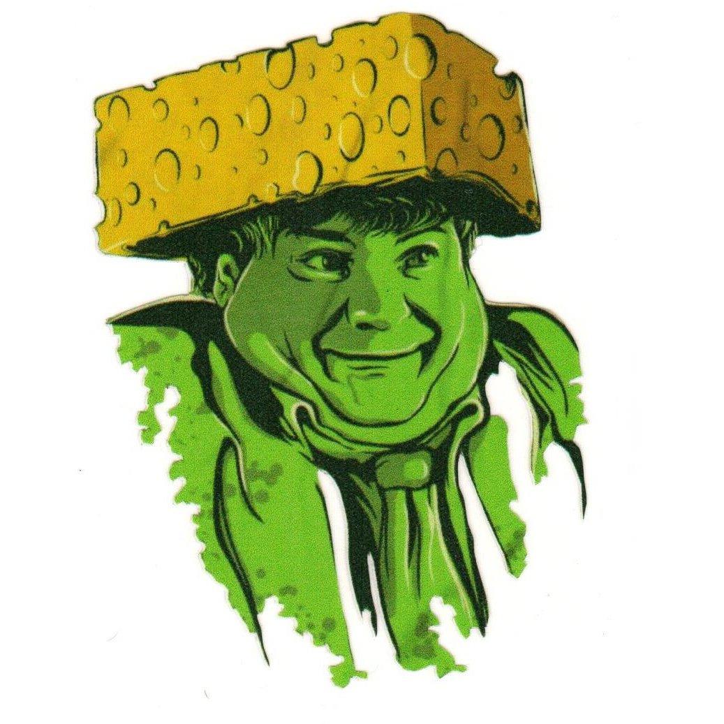 Farley cheesehead sticker
