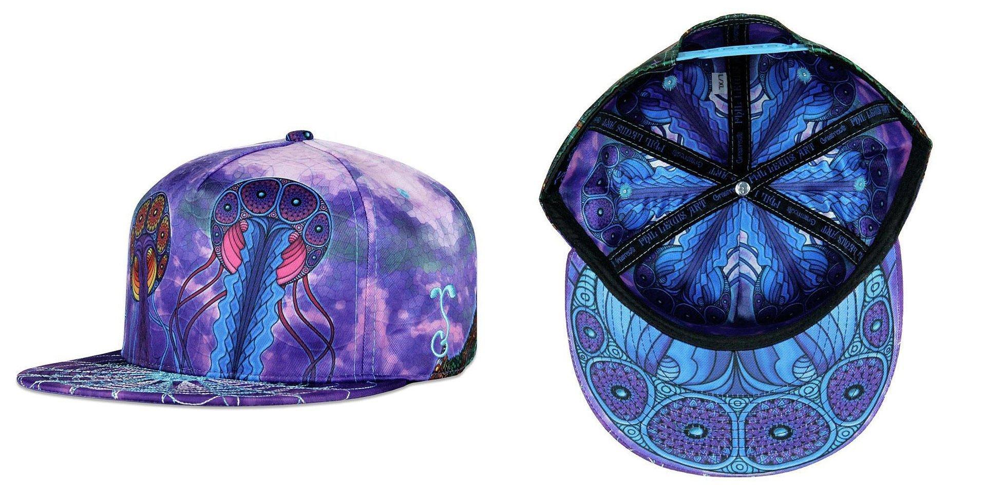 Phil Lewis Jellyfish Nimbus Snapback Grassroots California Hat aadc5d184b50