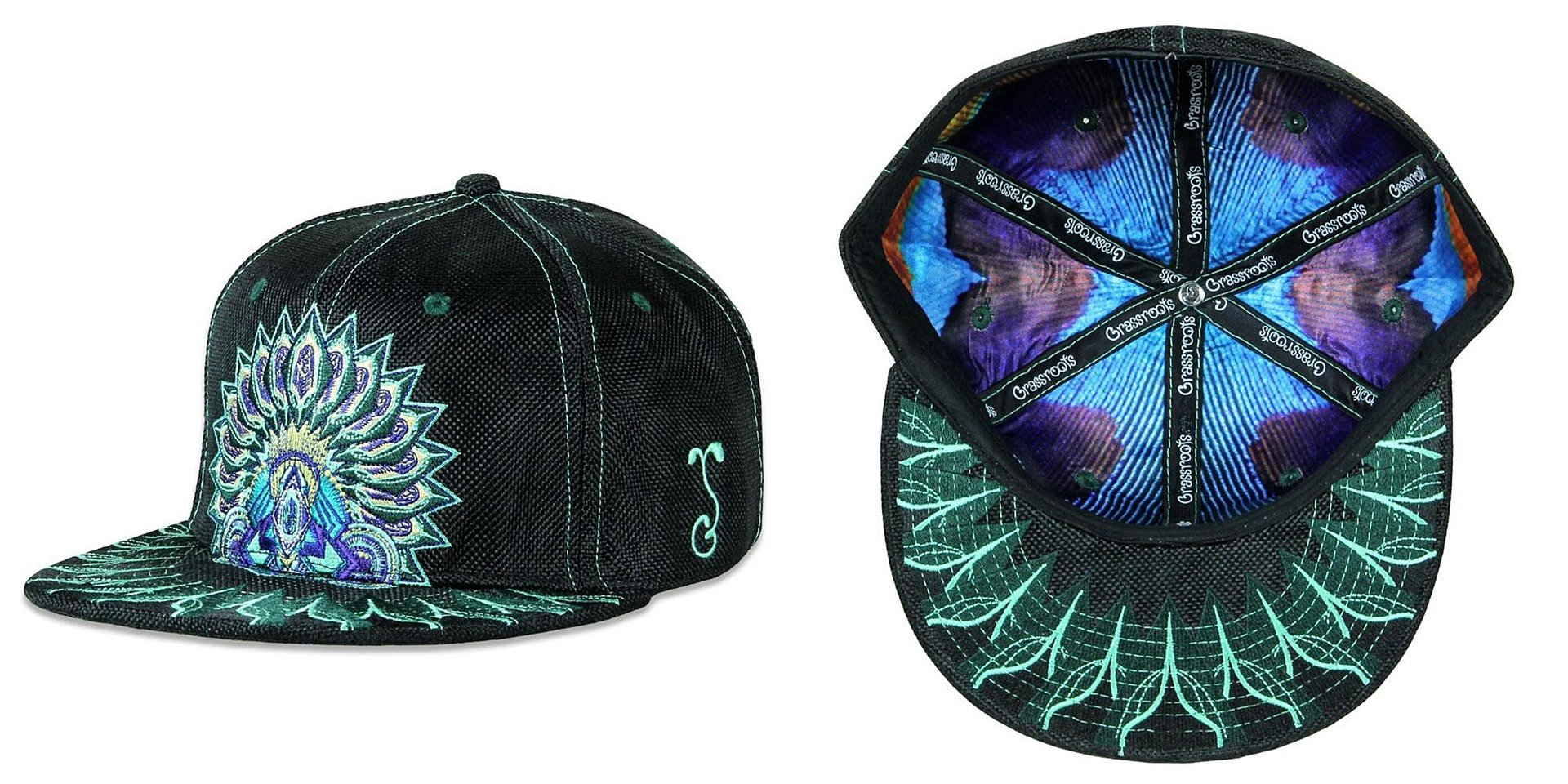 Psychedelic Aztec Black Fitted Grassroots California Hat 0aaa7f427cec