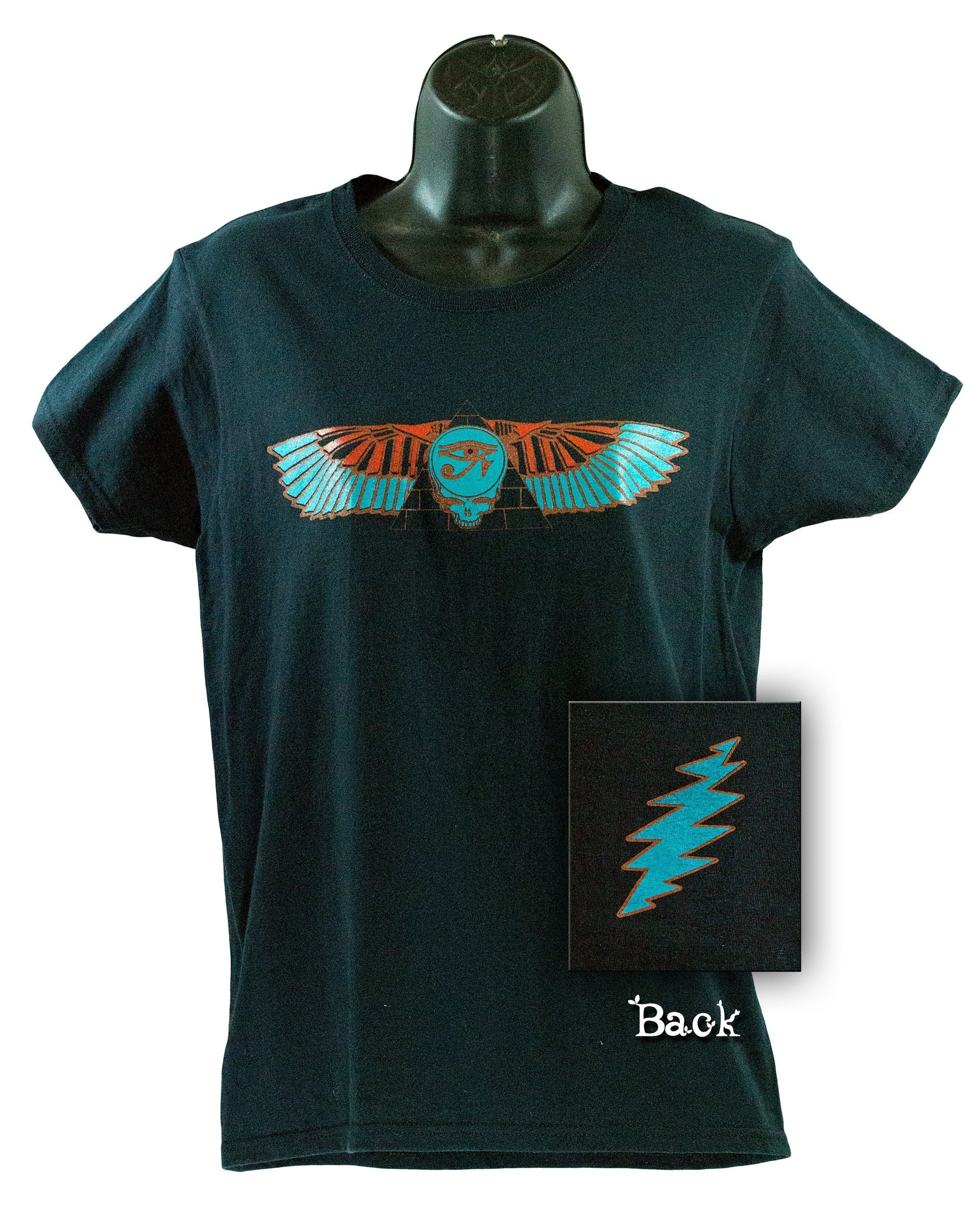 Grateful Dead Steal Your Face Egyptian Pyramid Wings w- Eye of Horus Short Sleeve Women's T-Shirt