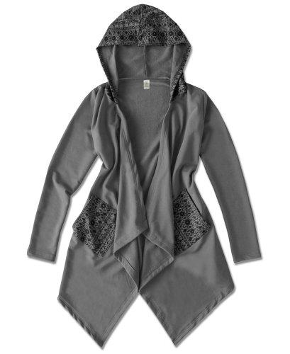 Soal-Flower's Organic Fleece Hooded Cardigan