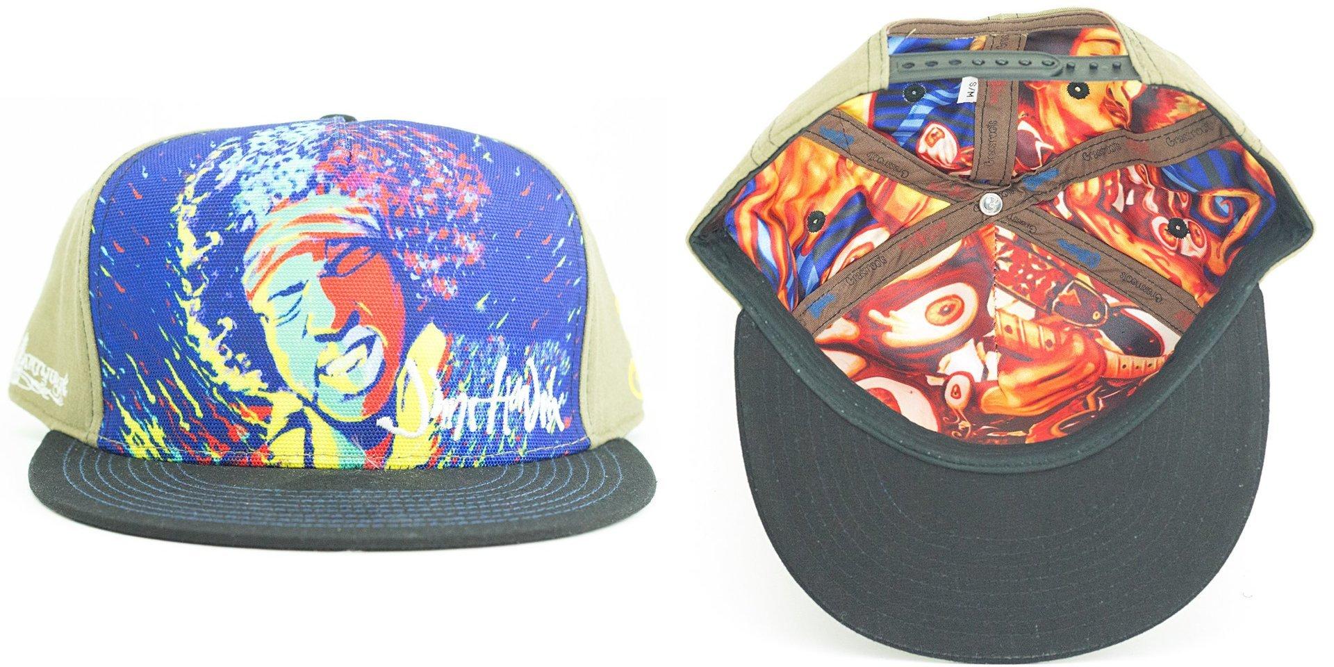 Jimi Hendrix Paint Shallow Snapback Grassroots California Hat