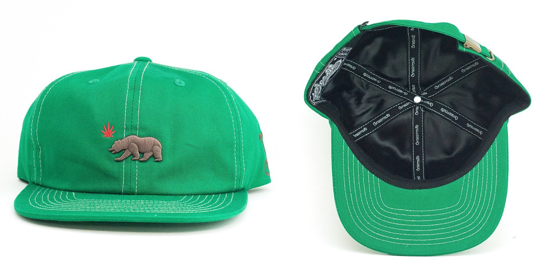 OG Cali Greens Dad Strapback Grassroots California Hat