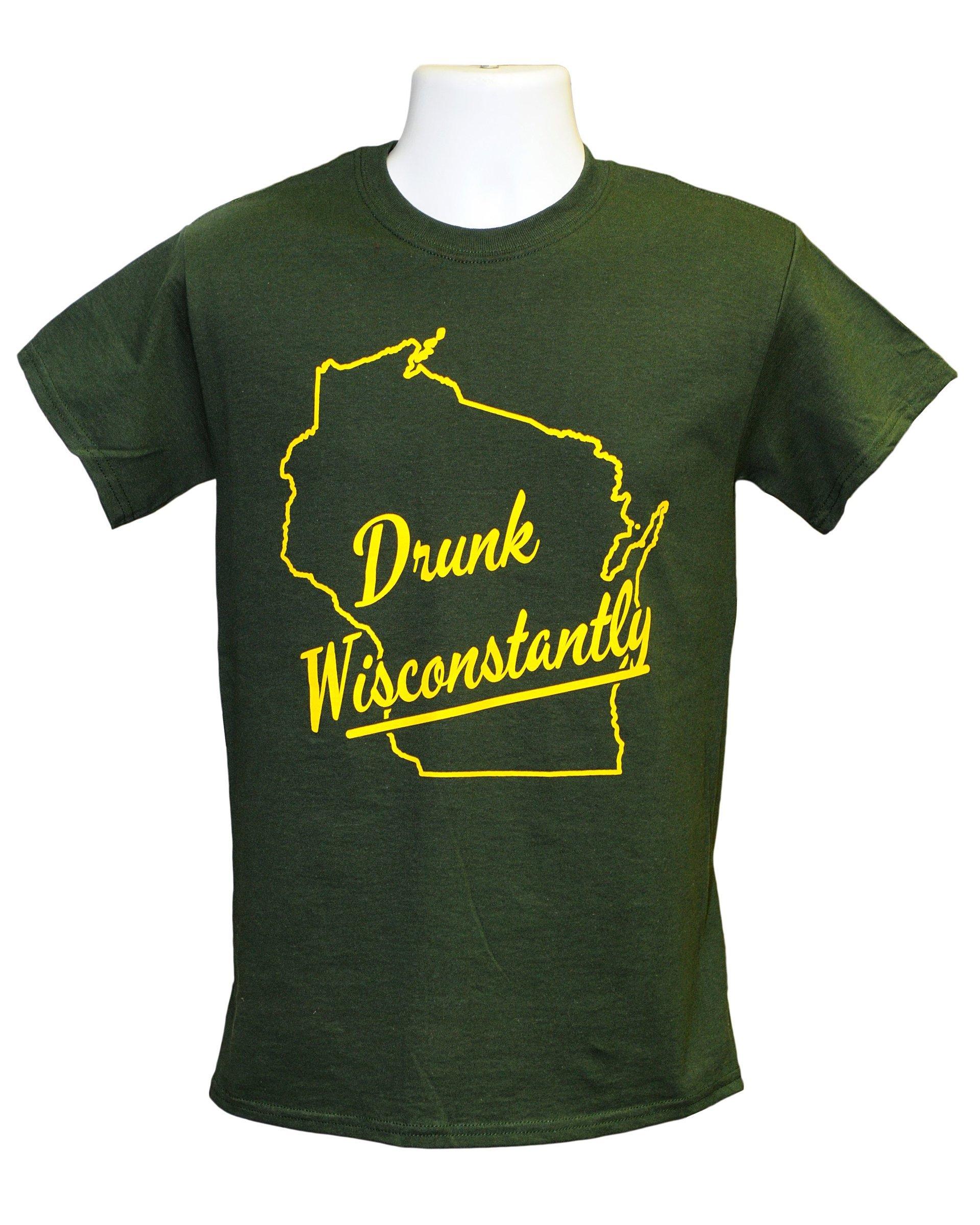 Drunk Wisconstantly Short Sleeve T-Shirt