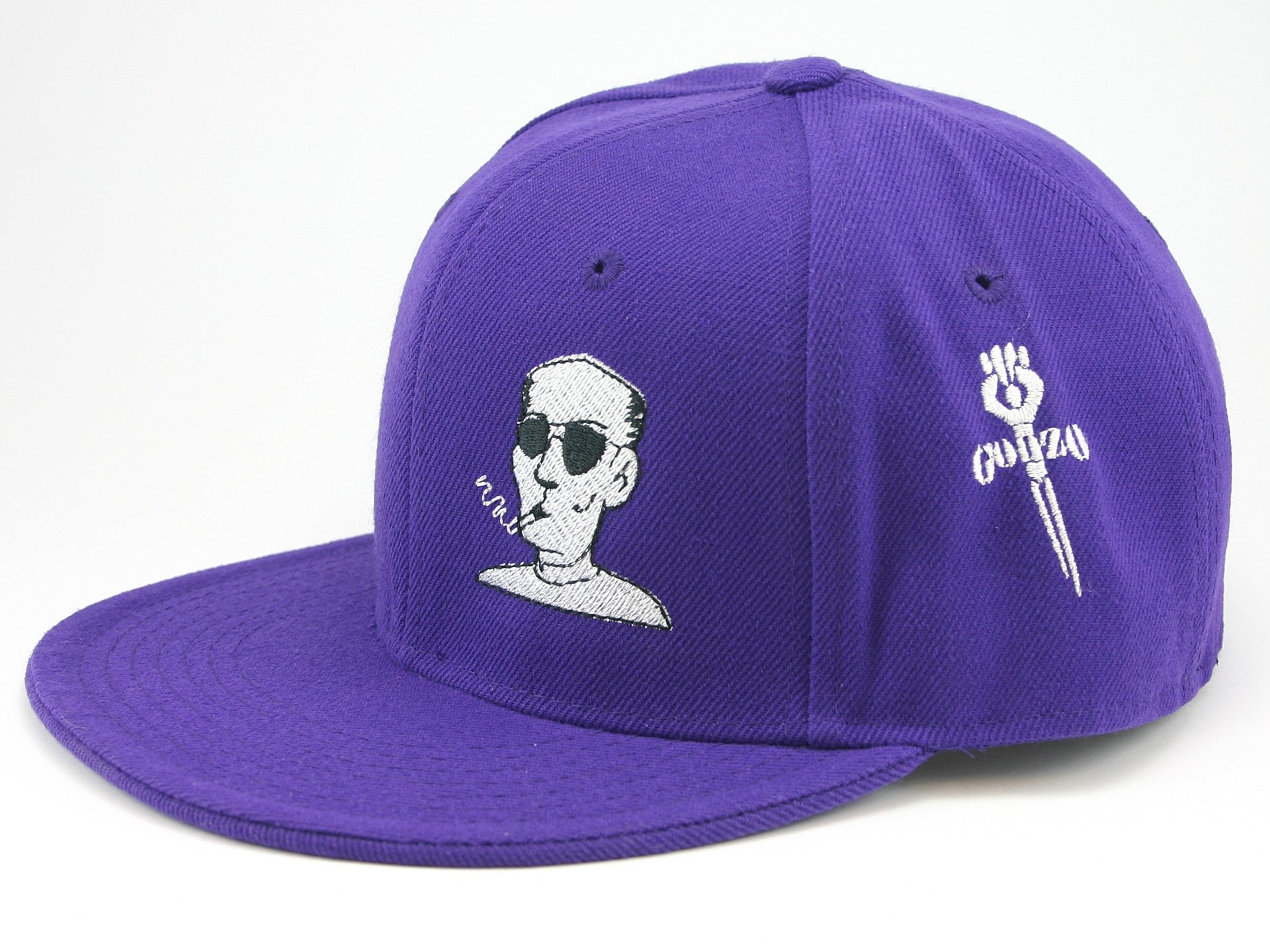 Hunter S. Thompson Fitted Hat (Purple)