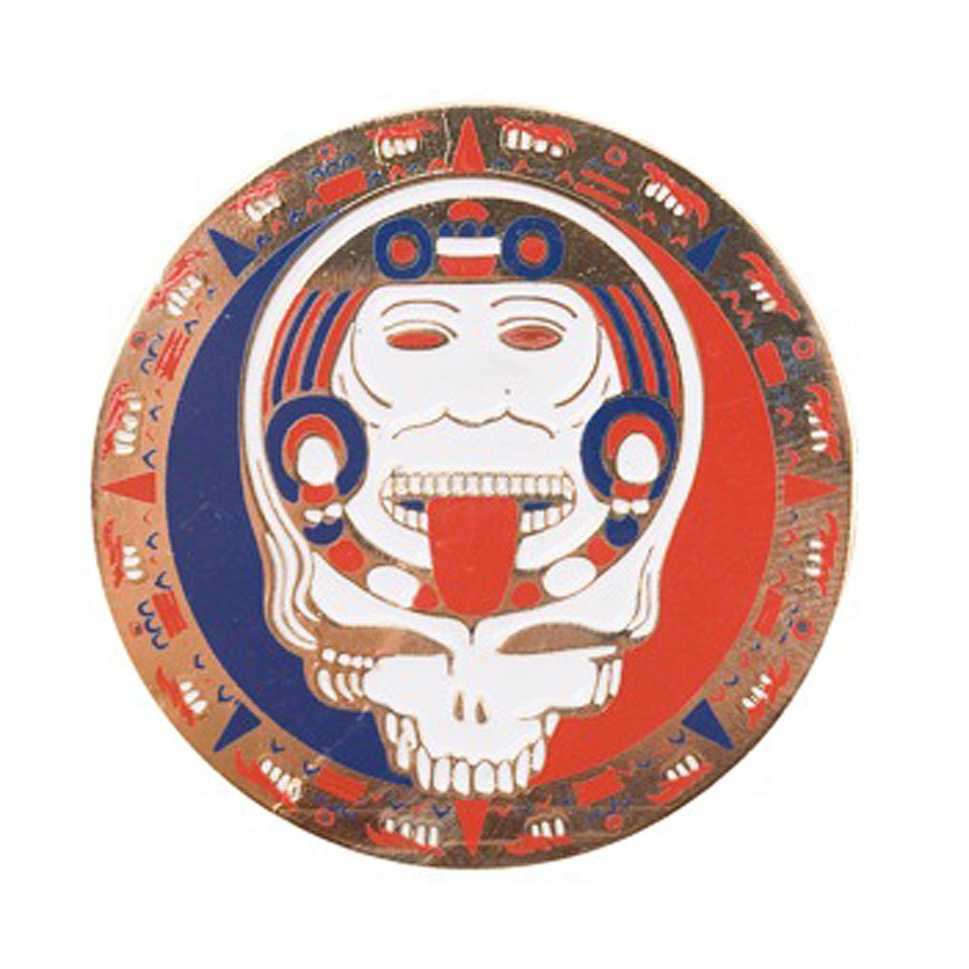 Grateful Dead Steal Your Face Mayan Calendar Face Gold Pin