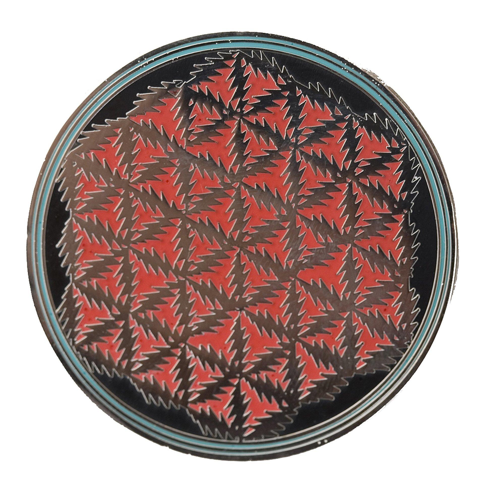 Grateful Dead - Flower of Life Lightning Bolts Black Pin