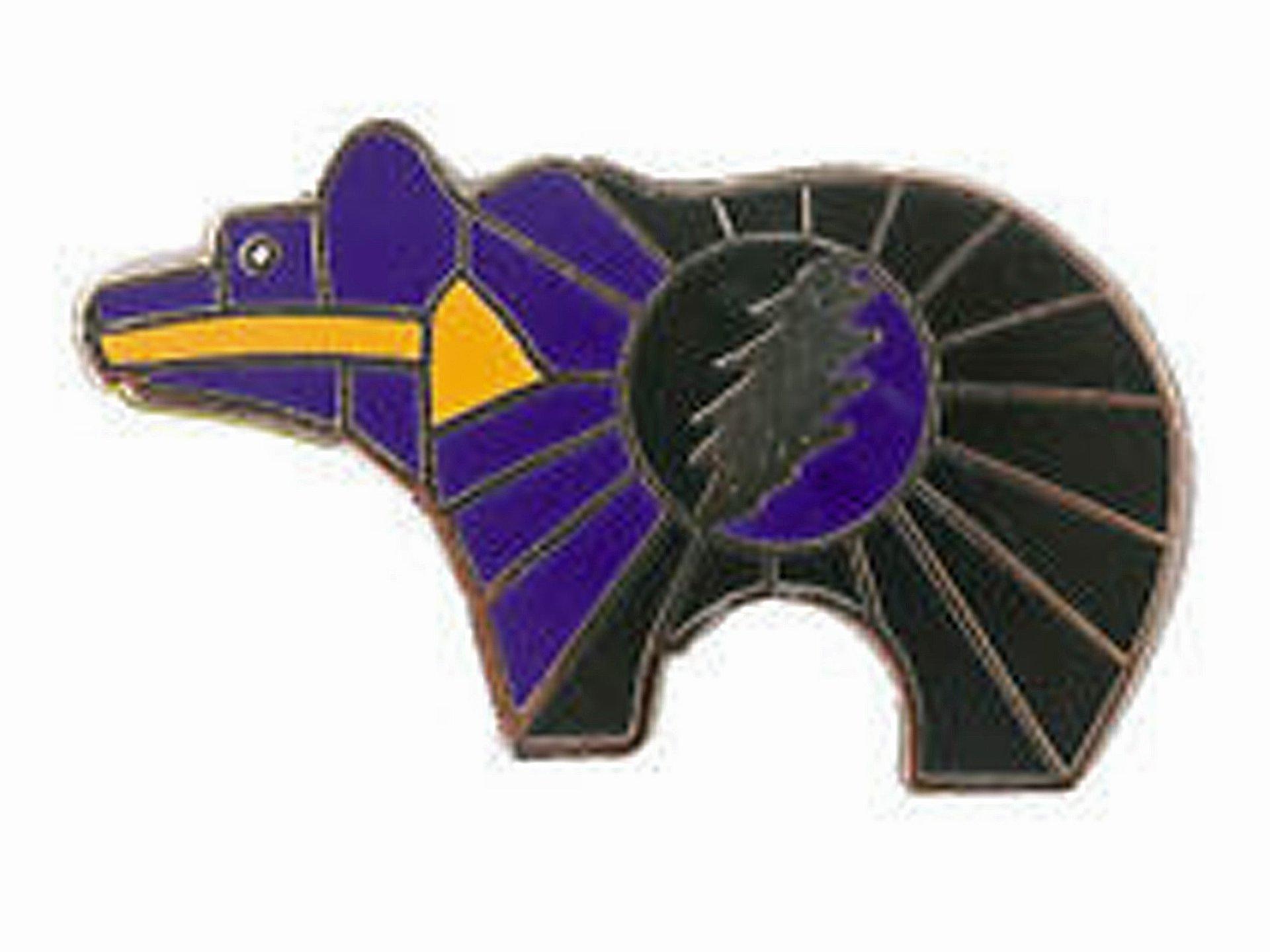 Grateful Dead Lightning Bolt Zuni Bear Pin V3 Purple