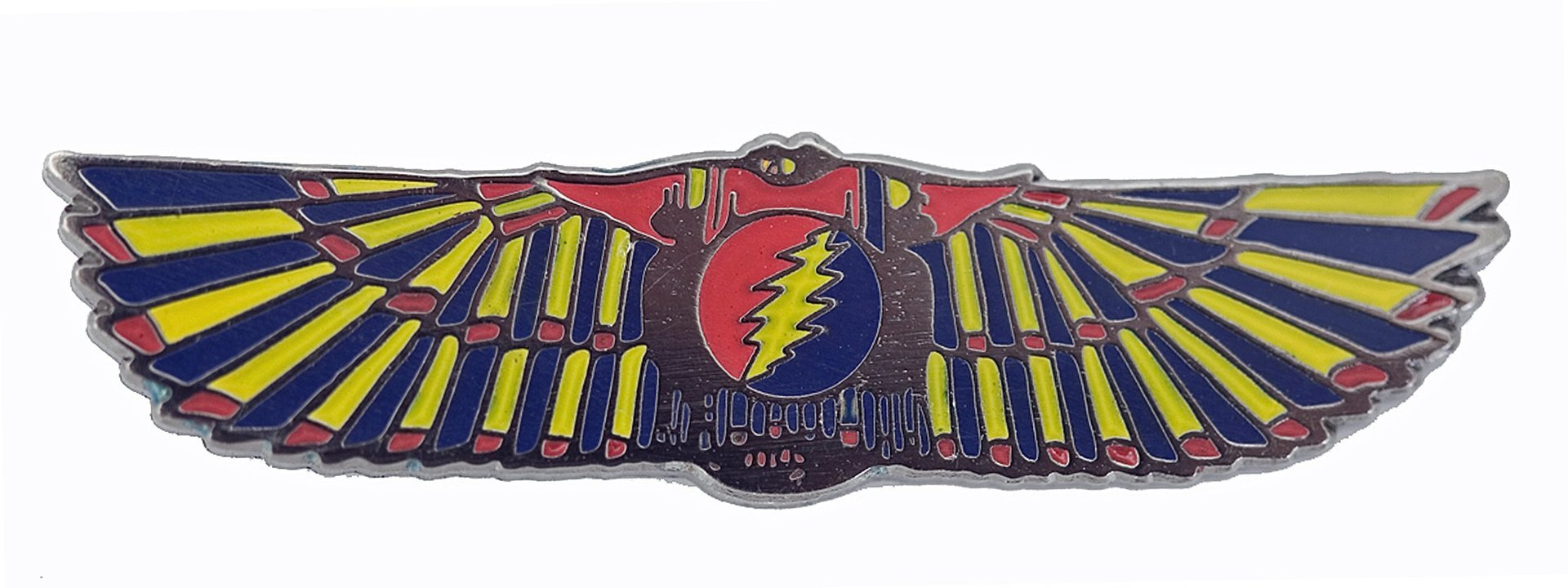 Grateful Dead - Egyptian Wings - Black - Yellow-Red-Blue Pin