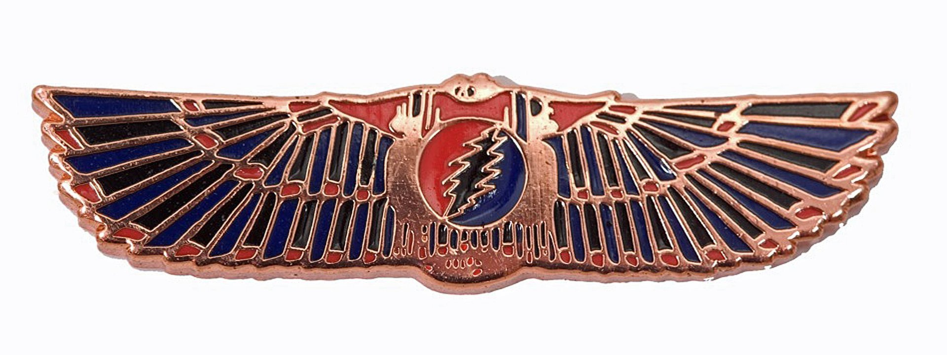 Grateful Dead - Egyptian Wings - Copper - Red-Blue Pin