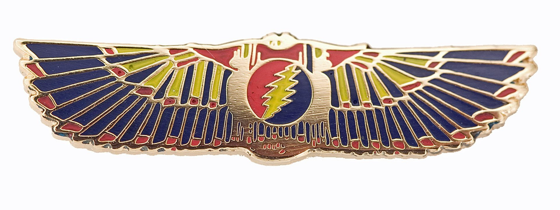 Grateful Dead - Egyptian Wings - Gold - Blue-Yellow-Red Pin