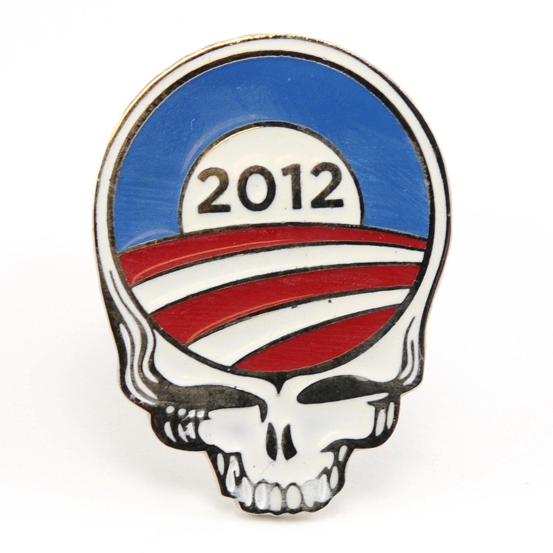 2012 Grateful Dead Red, White & Blue Stealie Pin