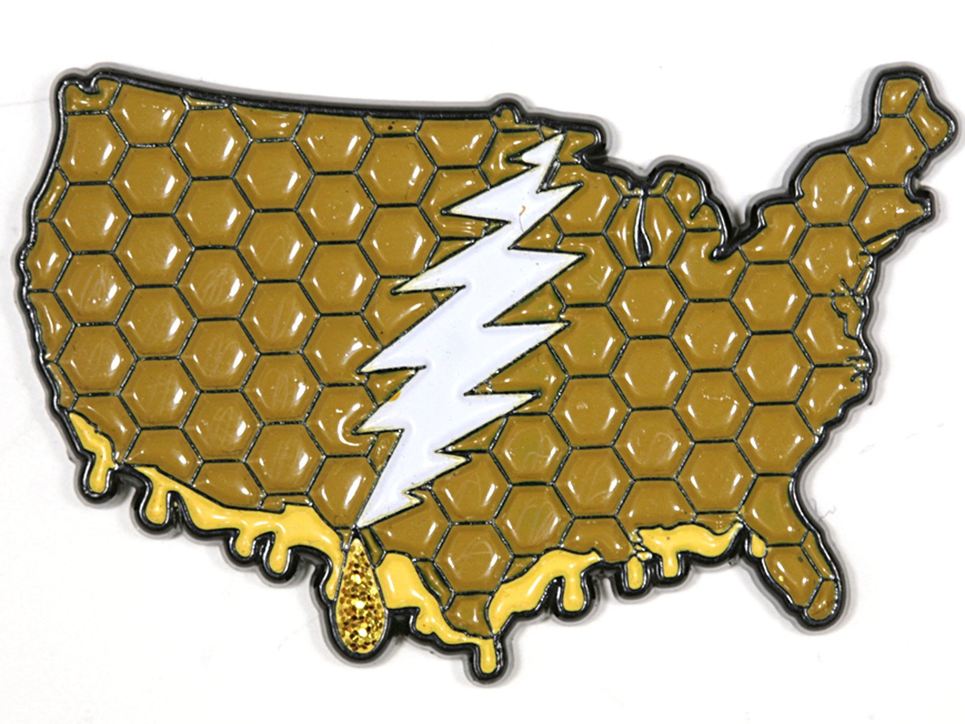 The Continental US - It's a Dab State of Mind Deadhead Pin
