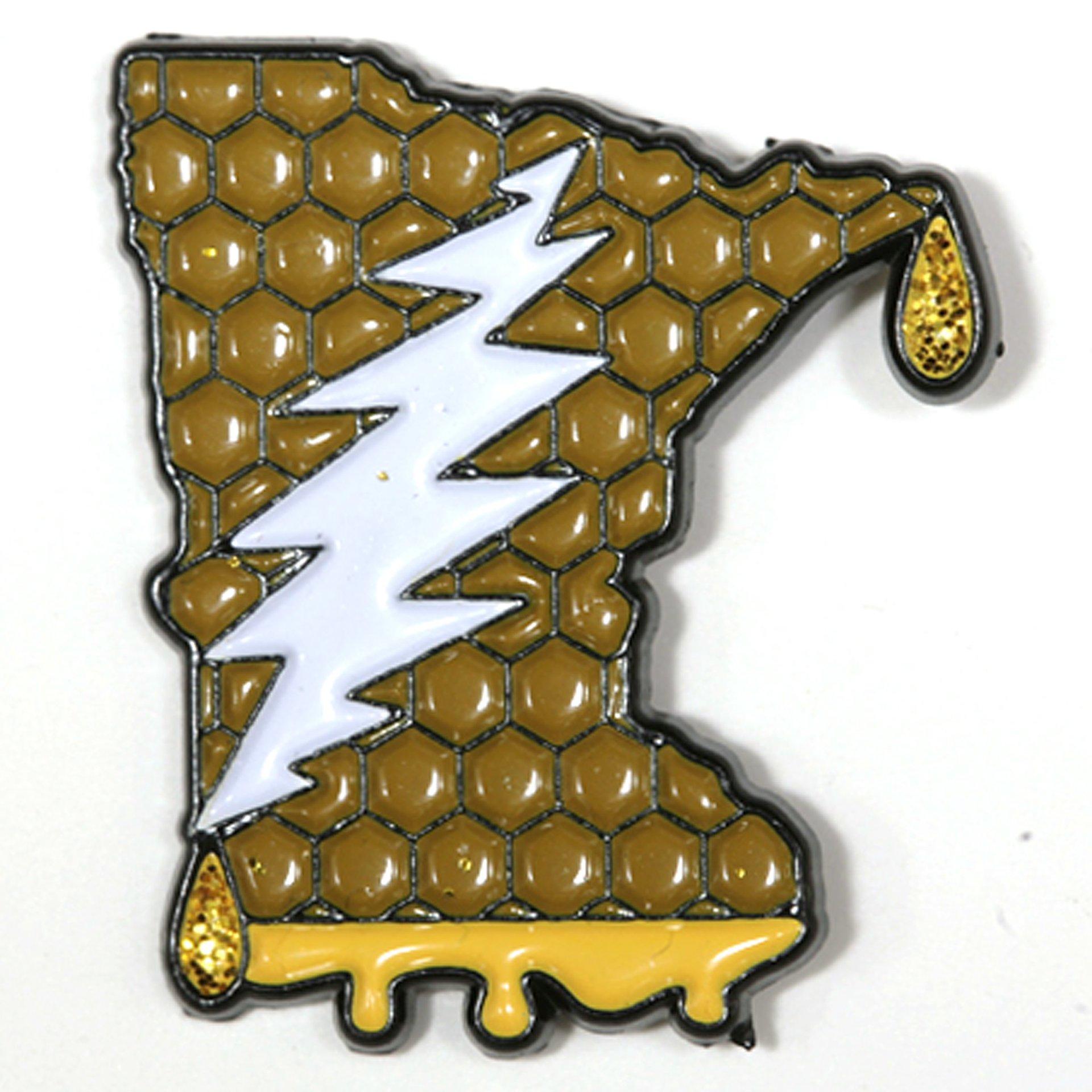 Minnesota - It's a Dab State of Mind Deadhead Pin