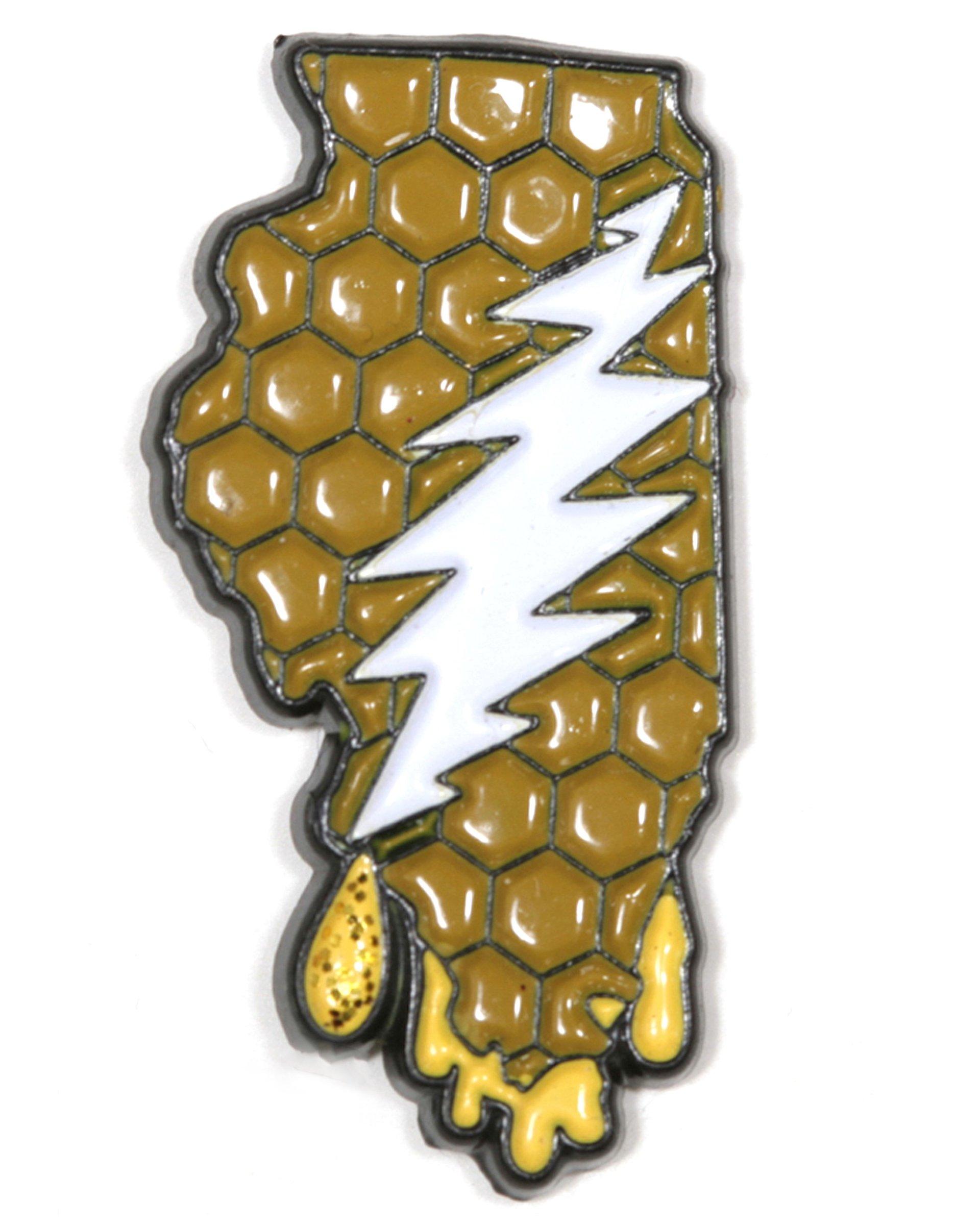 Illinois - It's a Dab State of Mind Deadhead Pin