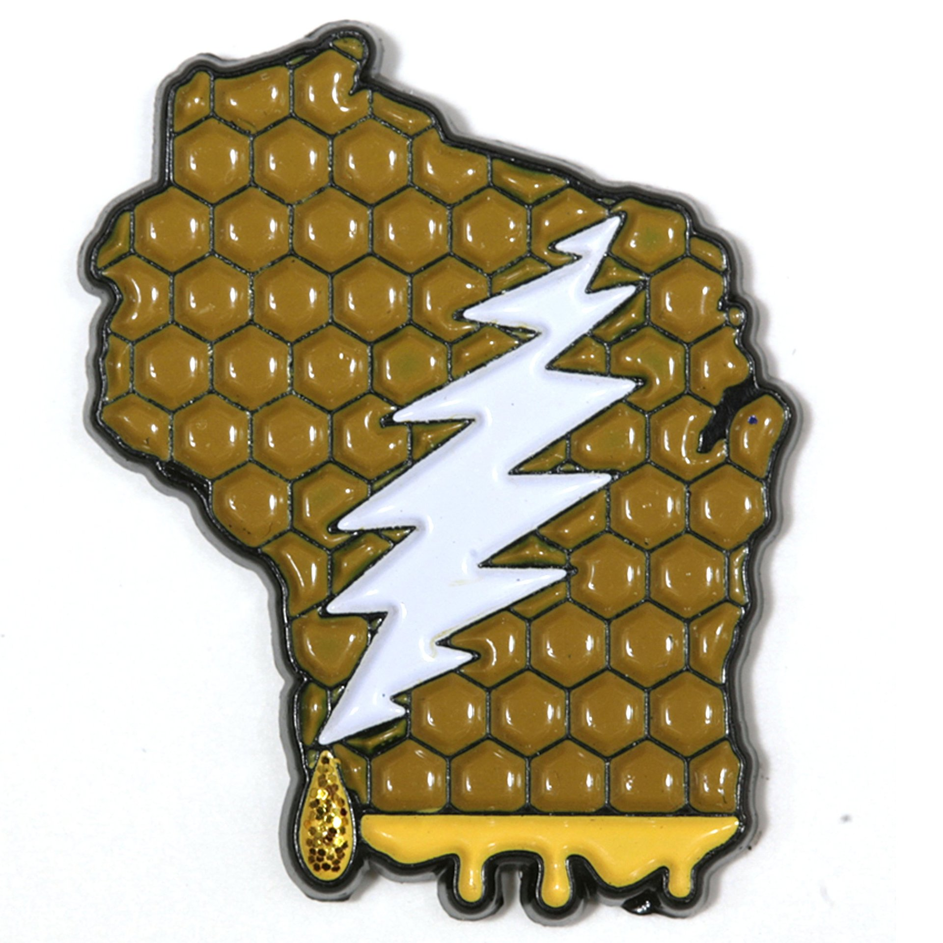 Wisconsin - It's a Dab State of Mind Deadhead Pin