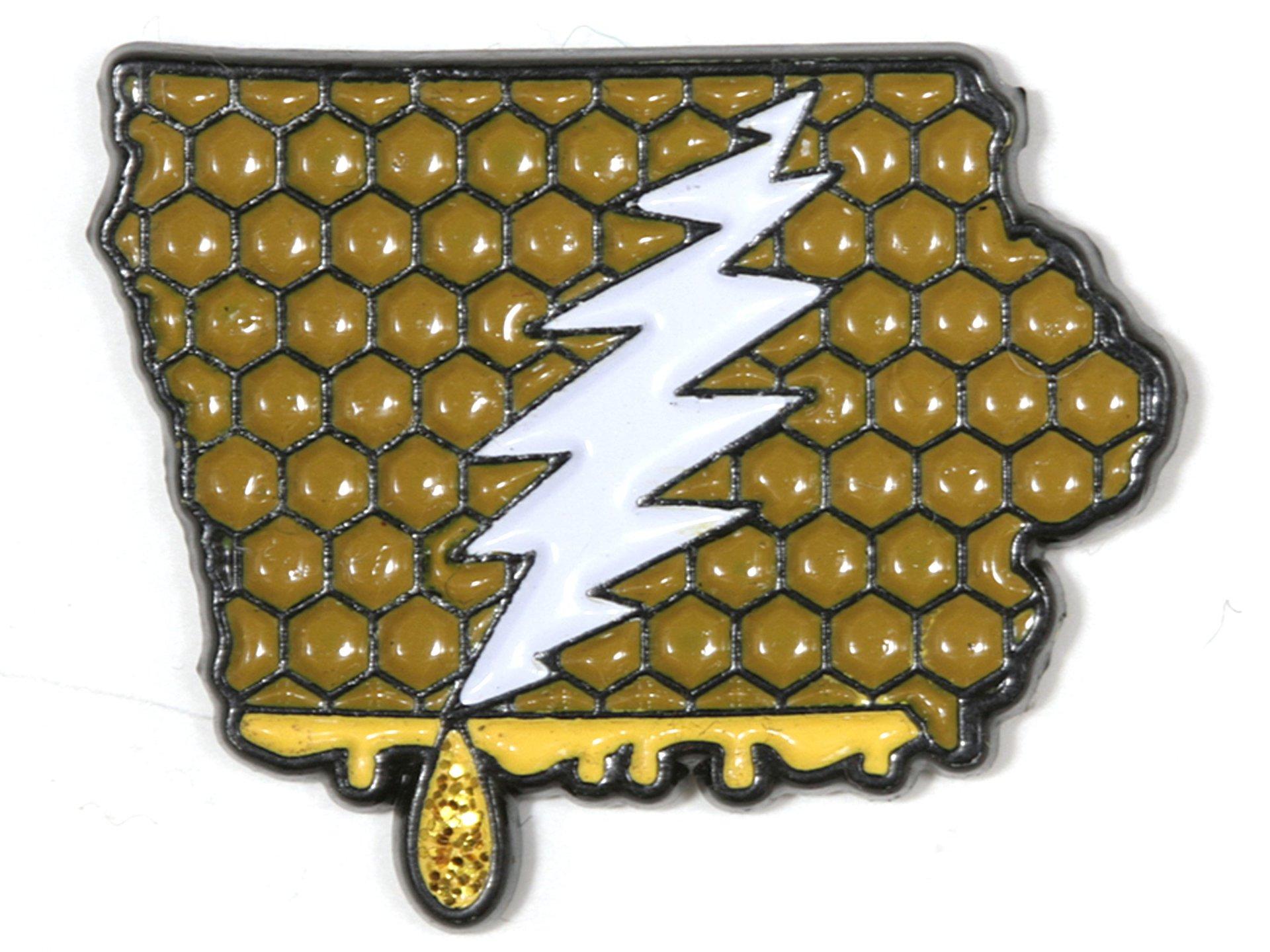 Iowa - It's a Dab State of Mind Deadhead Pin