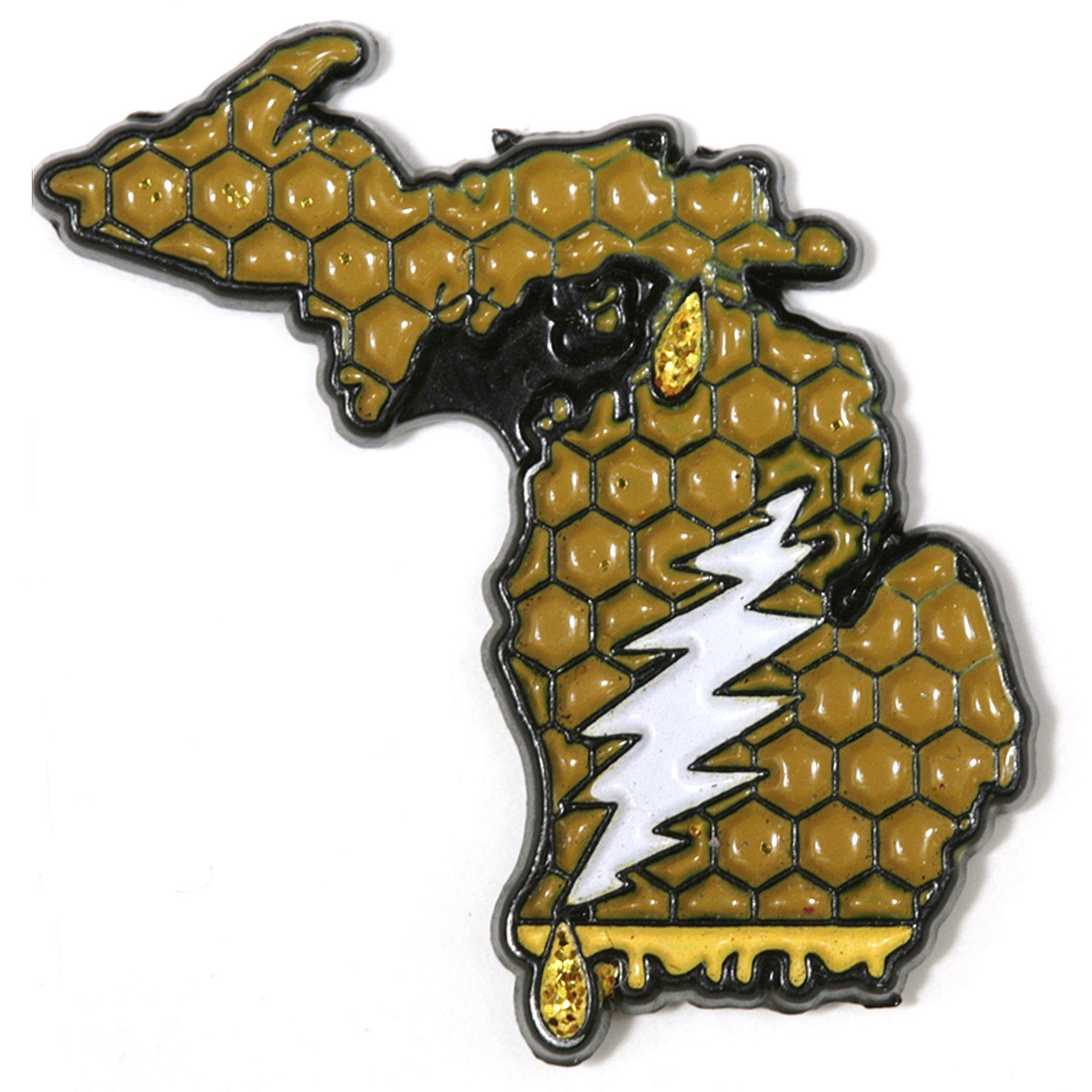 Michigan - It's a Dab State of Mind Deadhead Pin