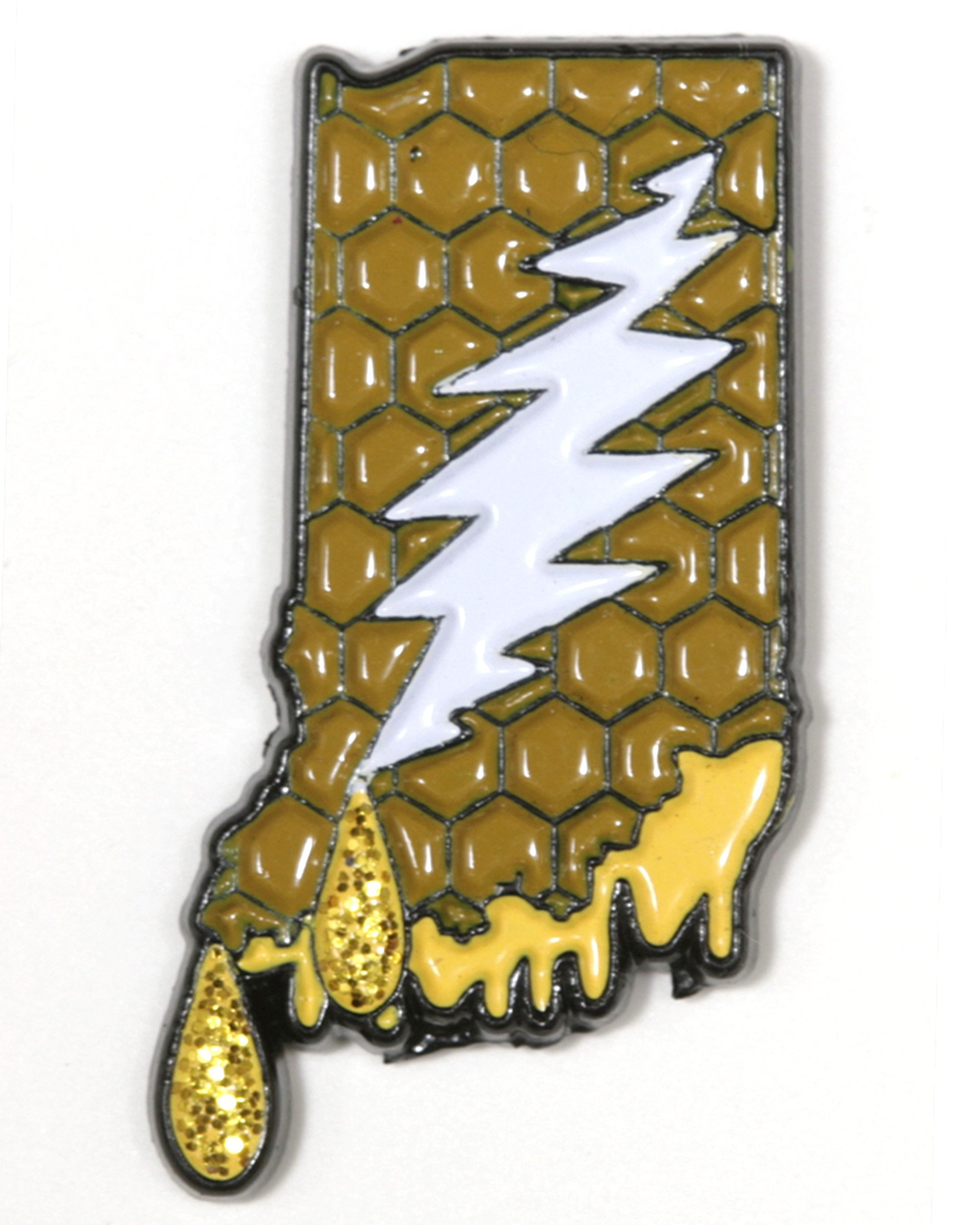 Indiana - It's a Dab State of Mind Deadhead Pin