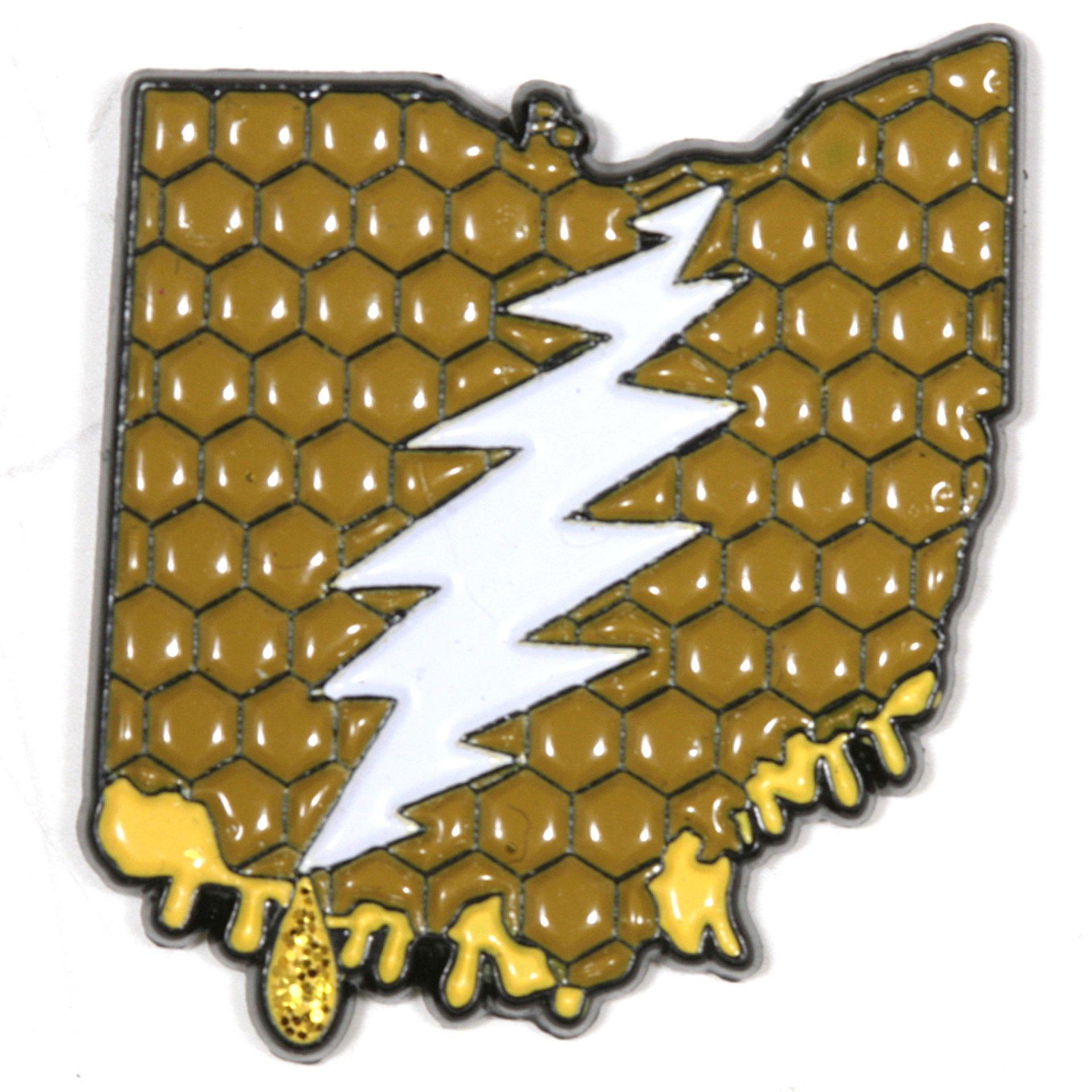 Ohio - It's a Dab State of Mind Deadhead Pin