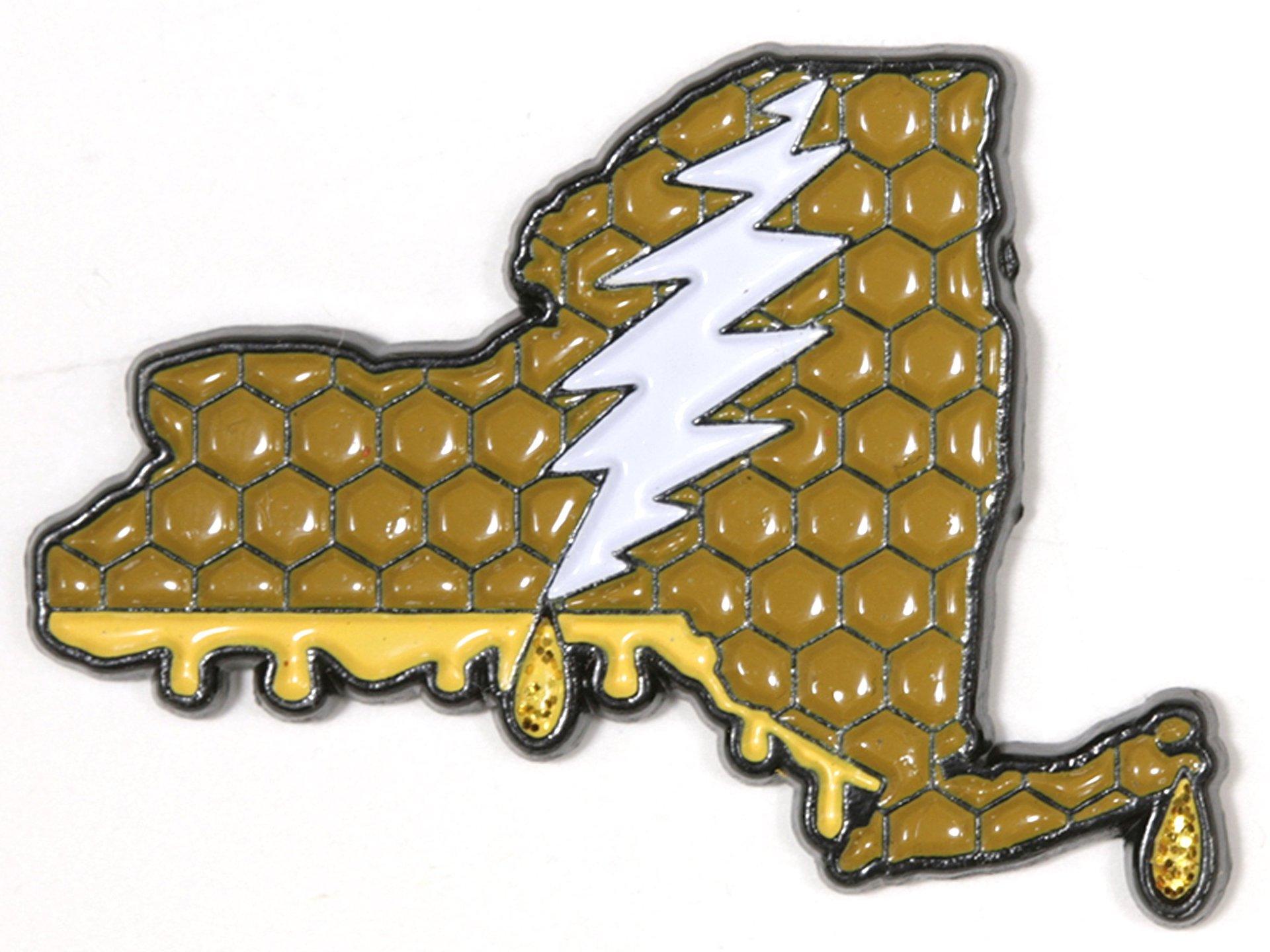 New York - It's a Dab State of Mind Deadhead Pin