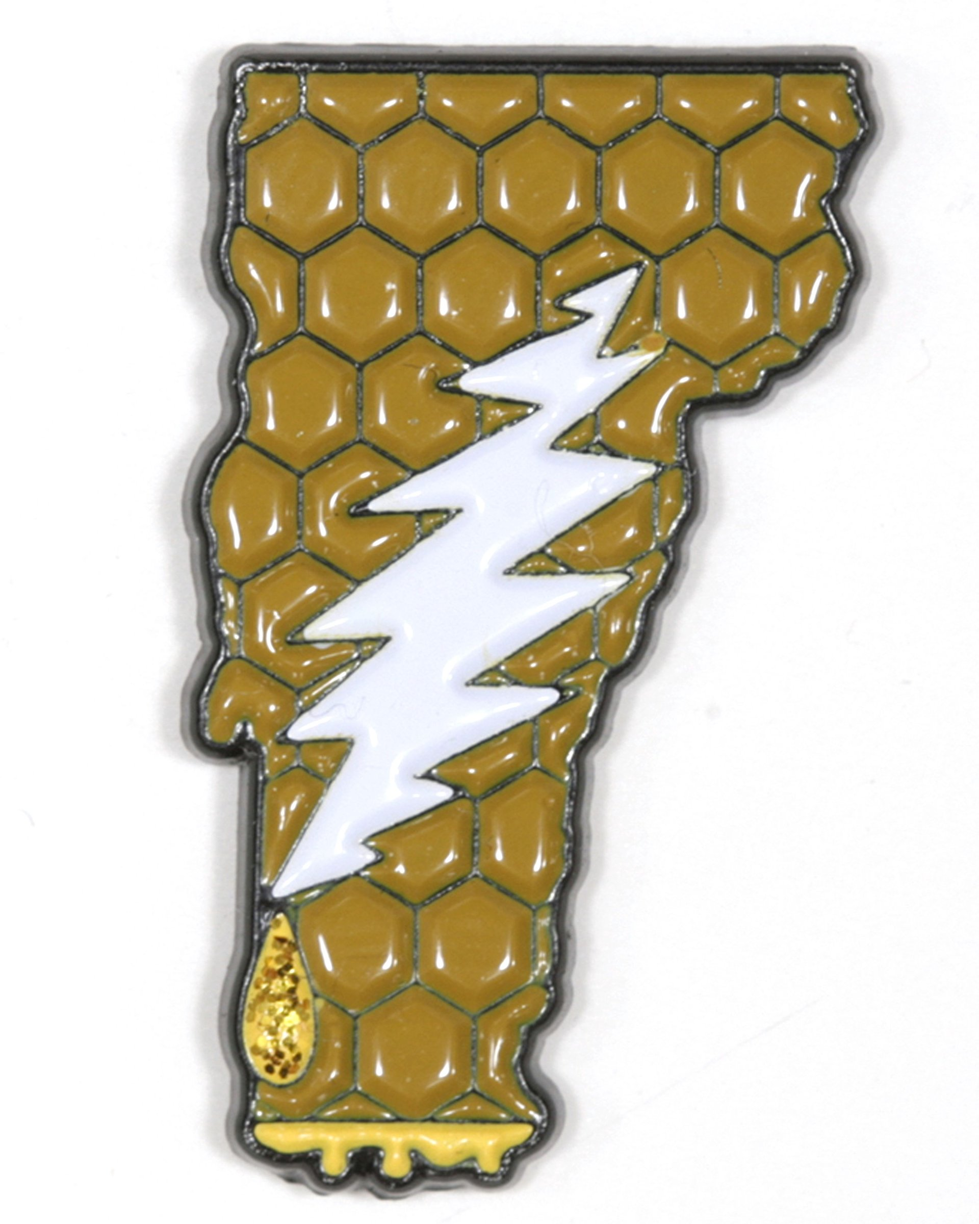 Vermont - It's a Dab State of Mind Deadhead Pin