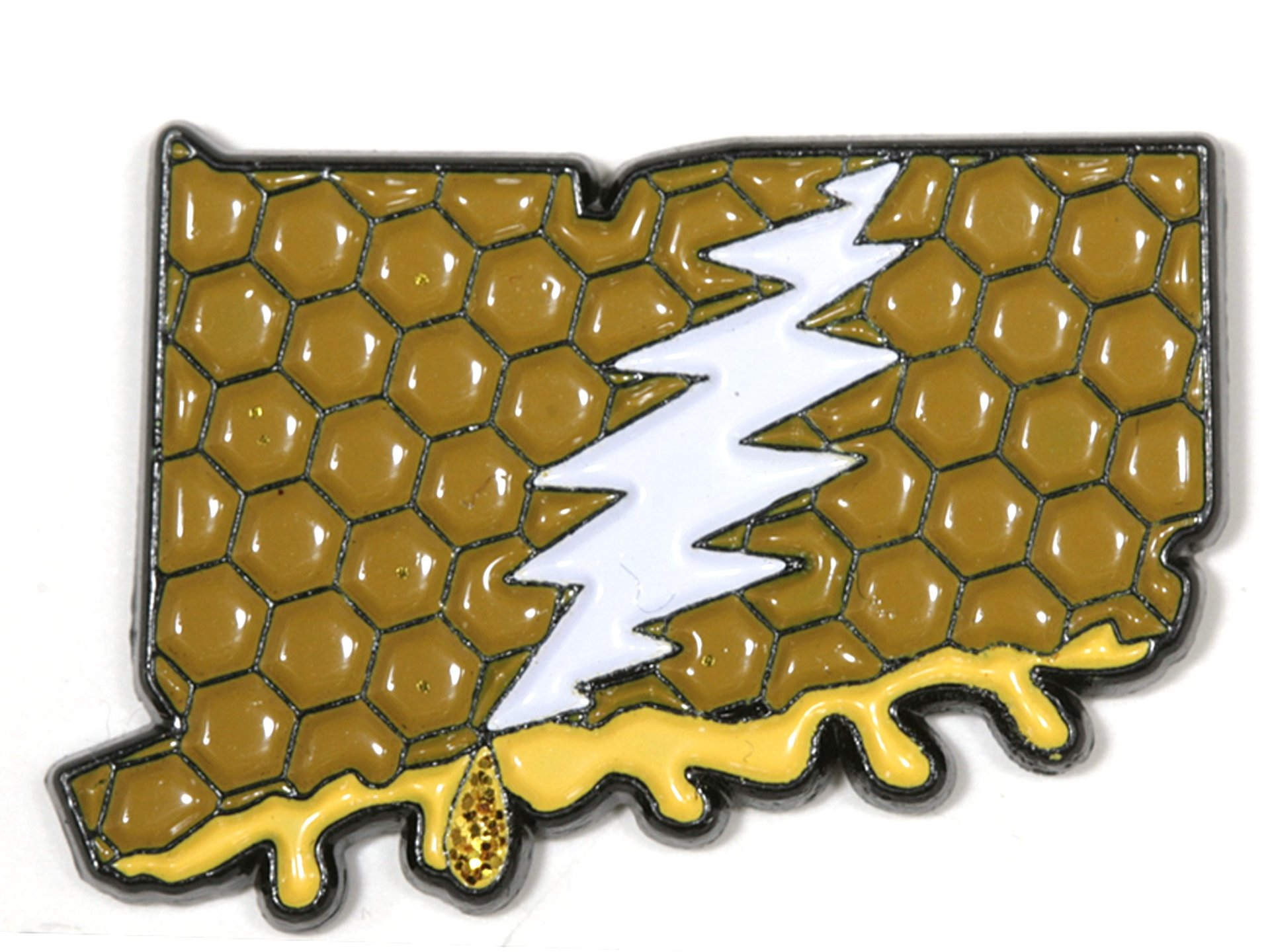Connecticut - It's a Dab State of Mind Deadhead Pin