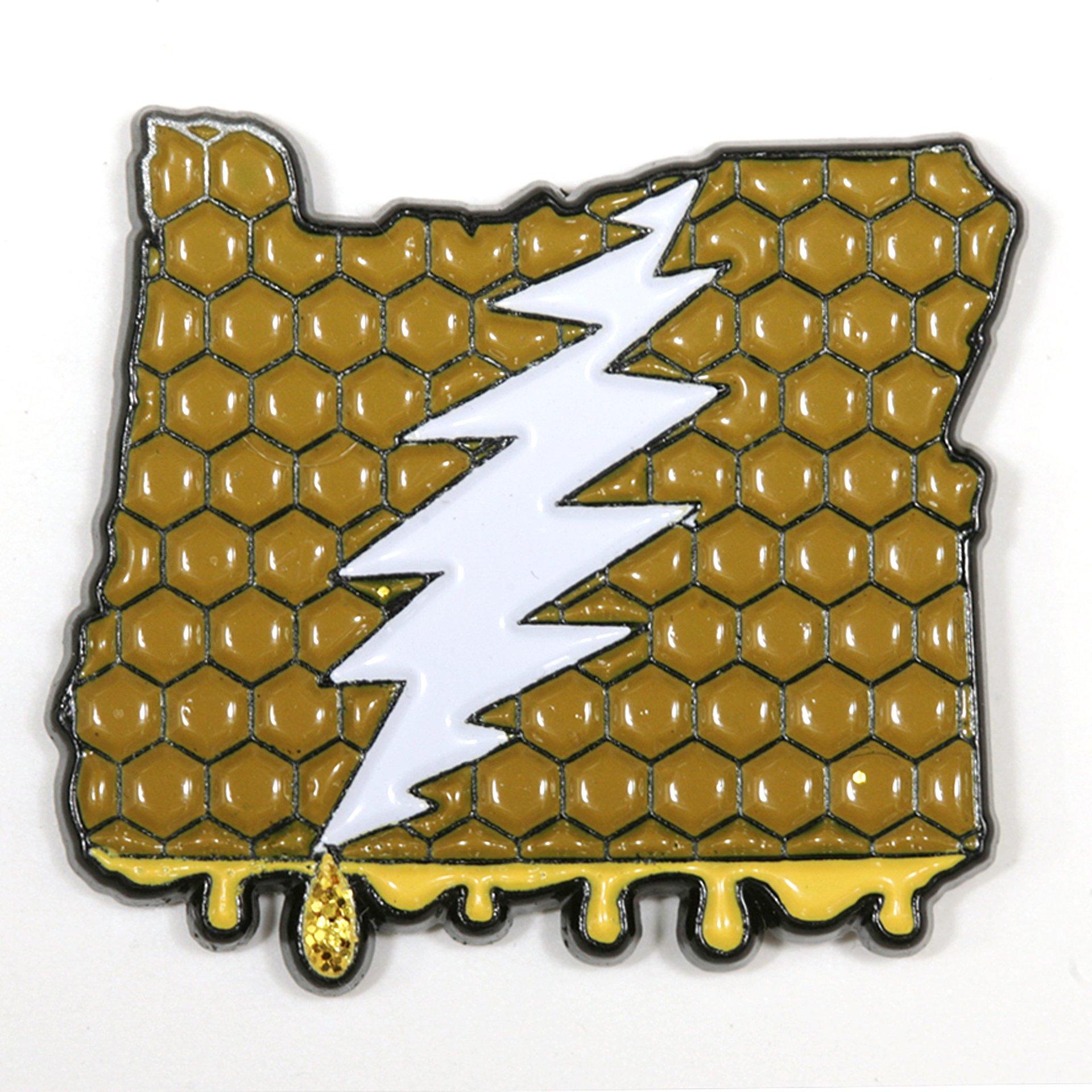 Oregon - It's a Dab State of Mind Deadhead Pin