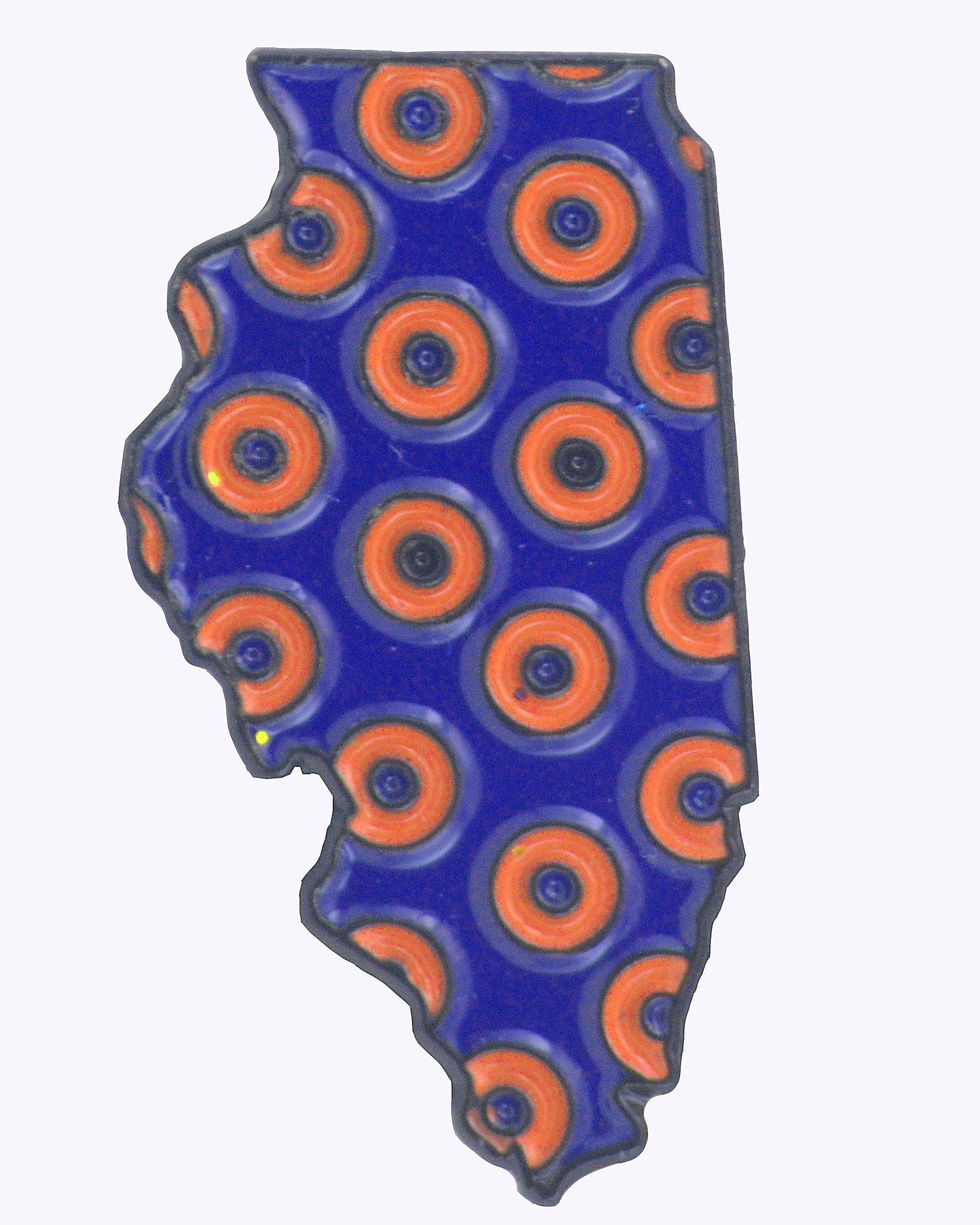 Illinois - Phish - Fishman Donut Pin