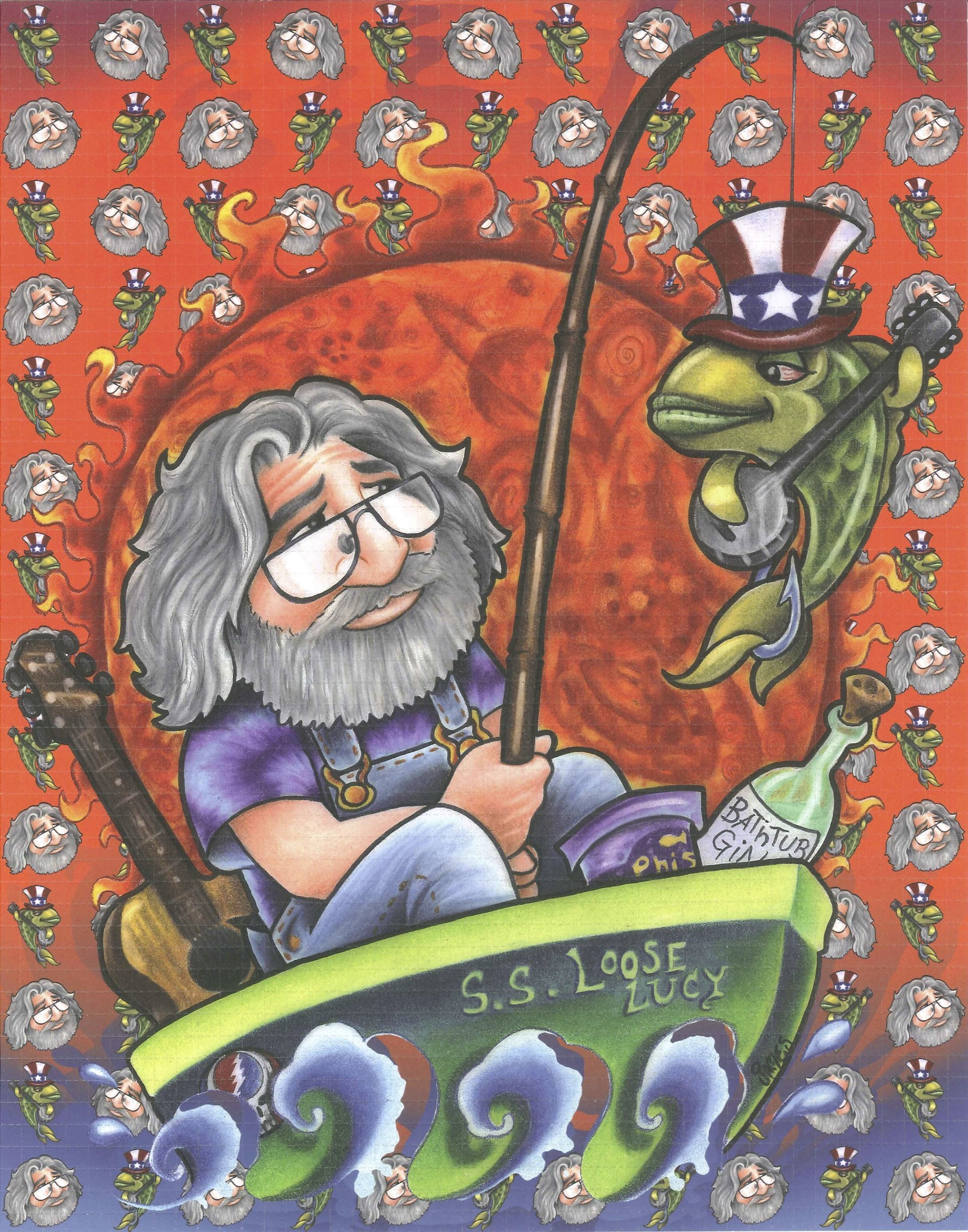 Jerry Gone Fishin on the S.S. Loose Lucy Blotter