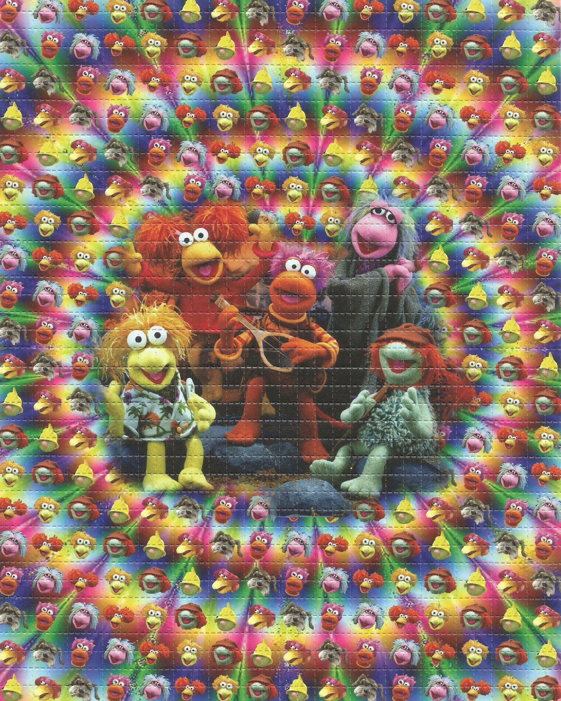 Psychedelic Fraggle Rock Blotter