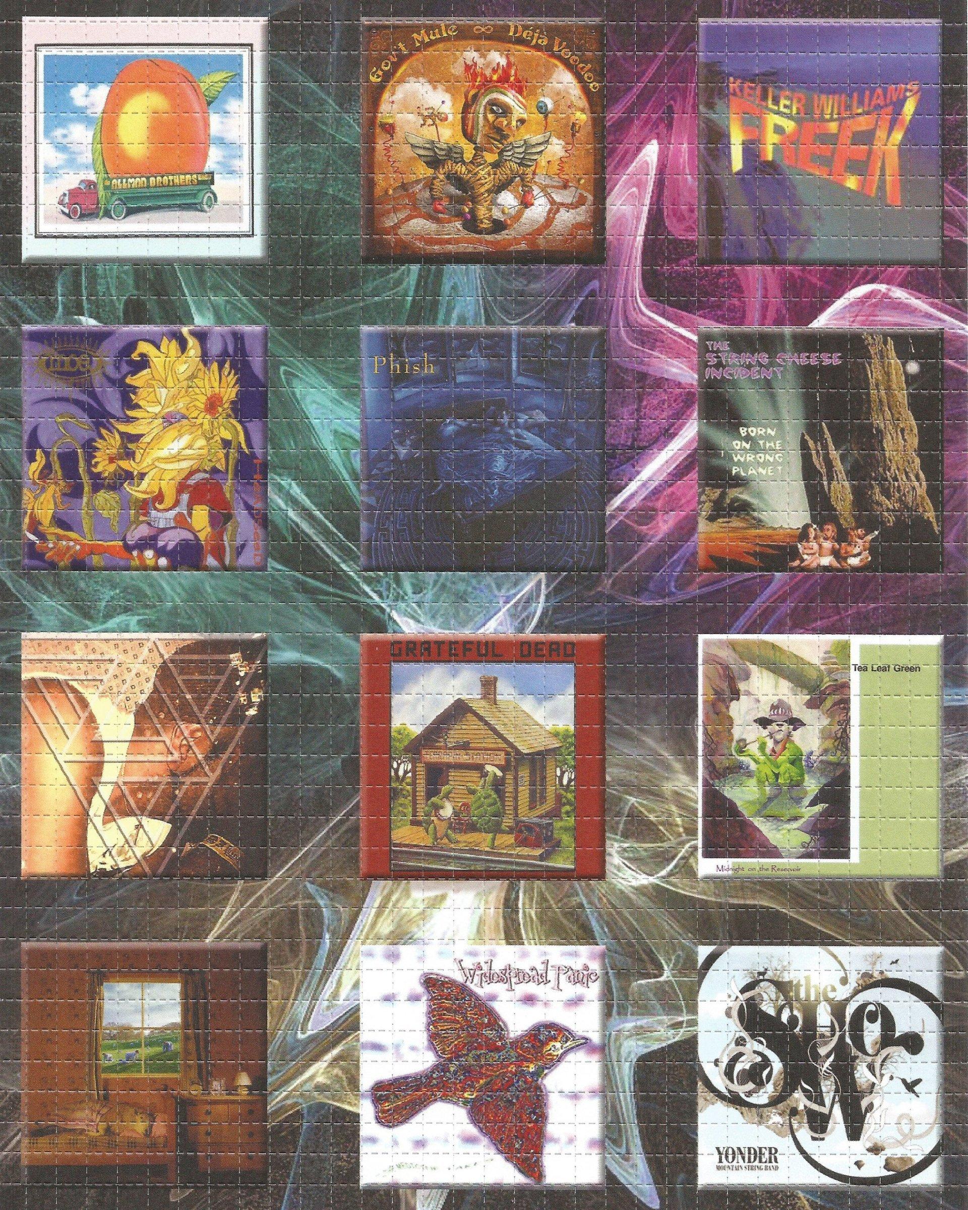 Jam Band 12 Panel Album Cover Blotter Art