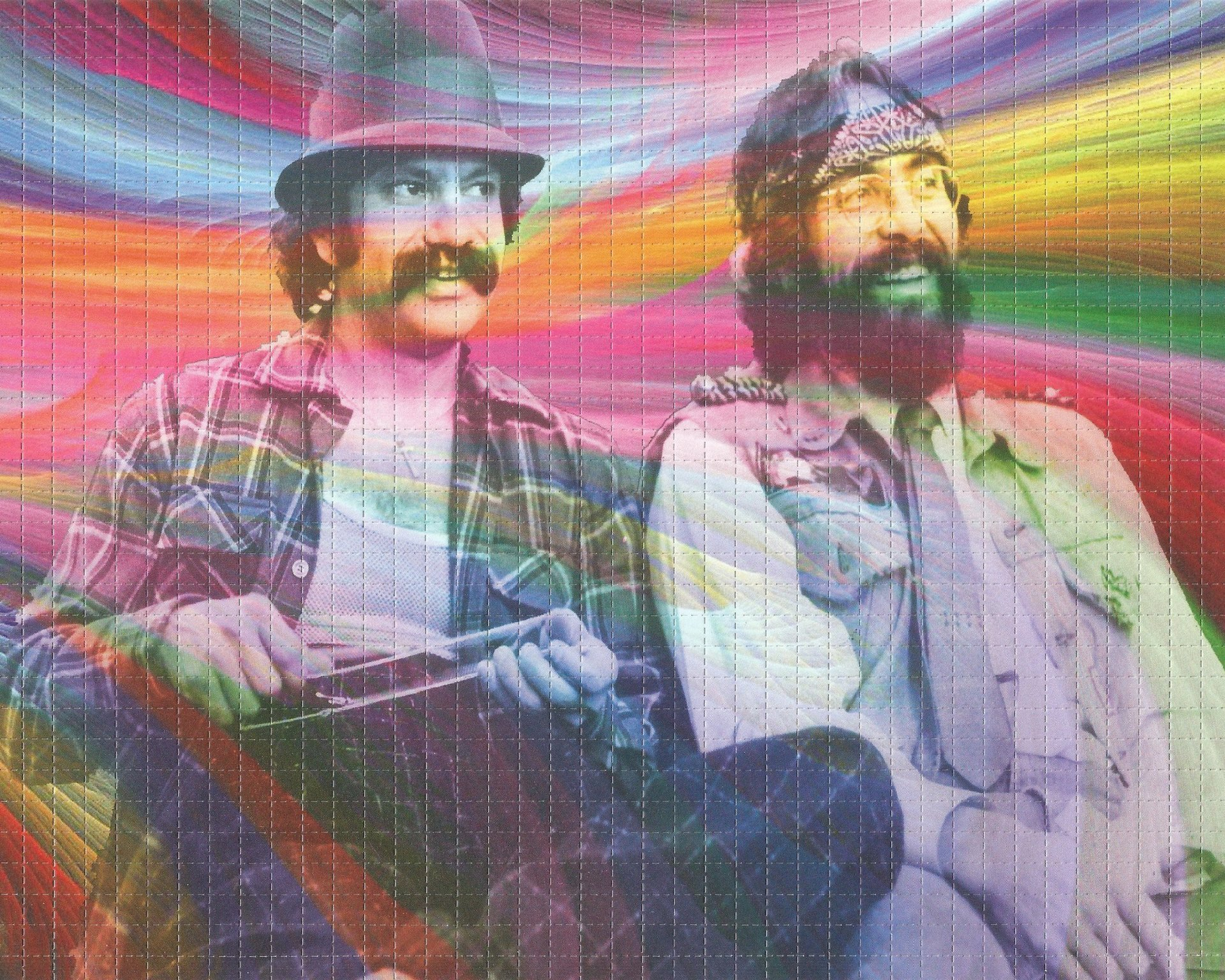 Psychedelic Cheech and Chong Blotter