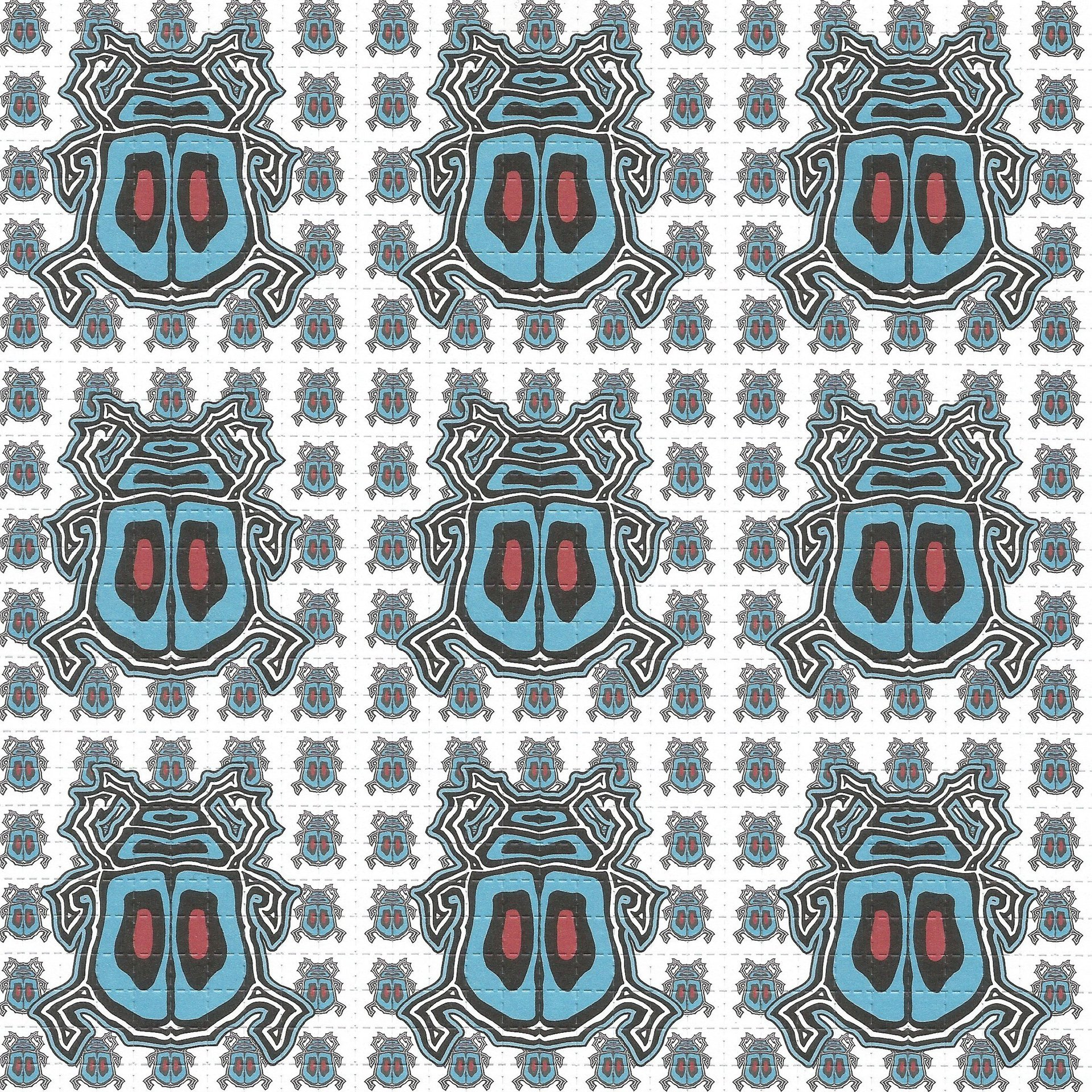 Beetles by Rick Sinnett Blotter