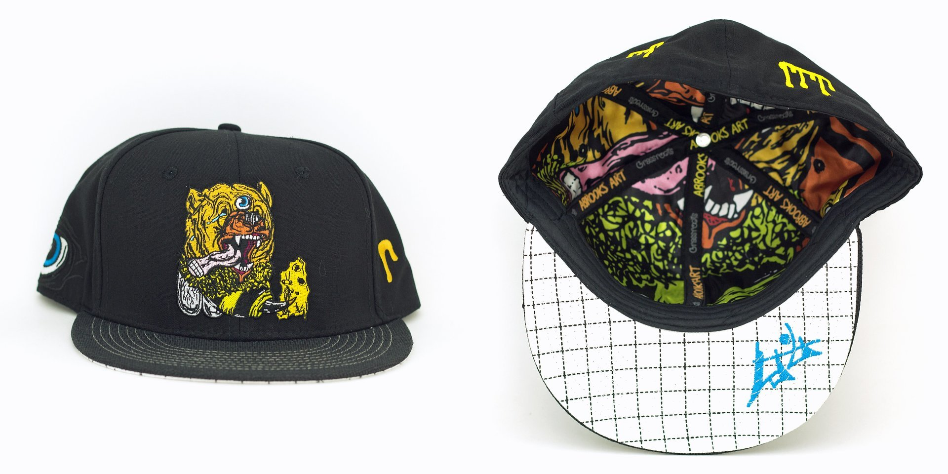 Aaron Brooks Bear Bee Black Fitted Grassroots California Hat
