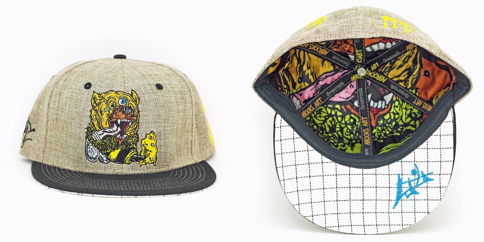 Aaron Brooks Bear Bee Tan Fitted Grassroots California Hat