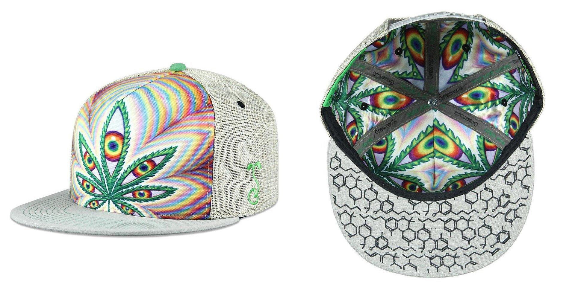 Alex Grey Higher Vision 2017 Tan Snapback Grassroots California Hat