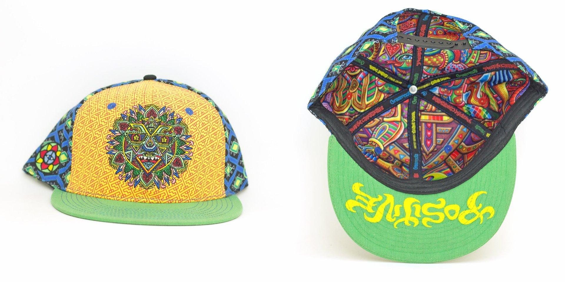 Chris Dyer Mandala Sun Snapback California Hat