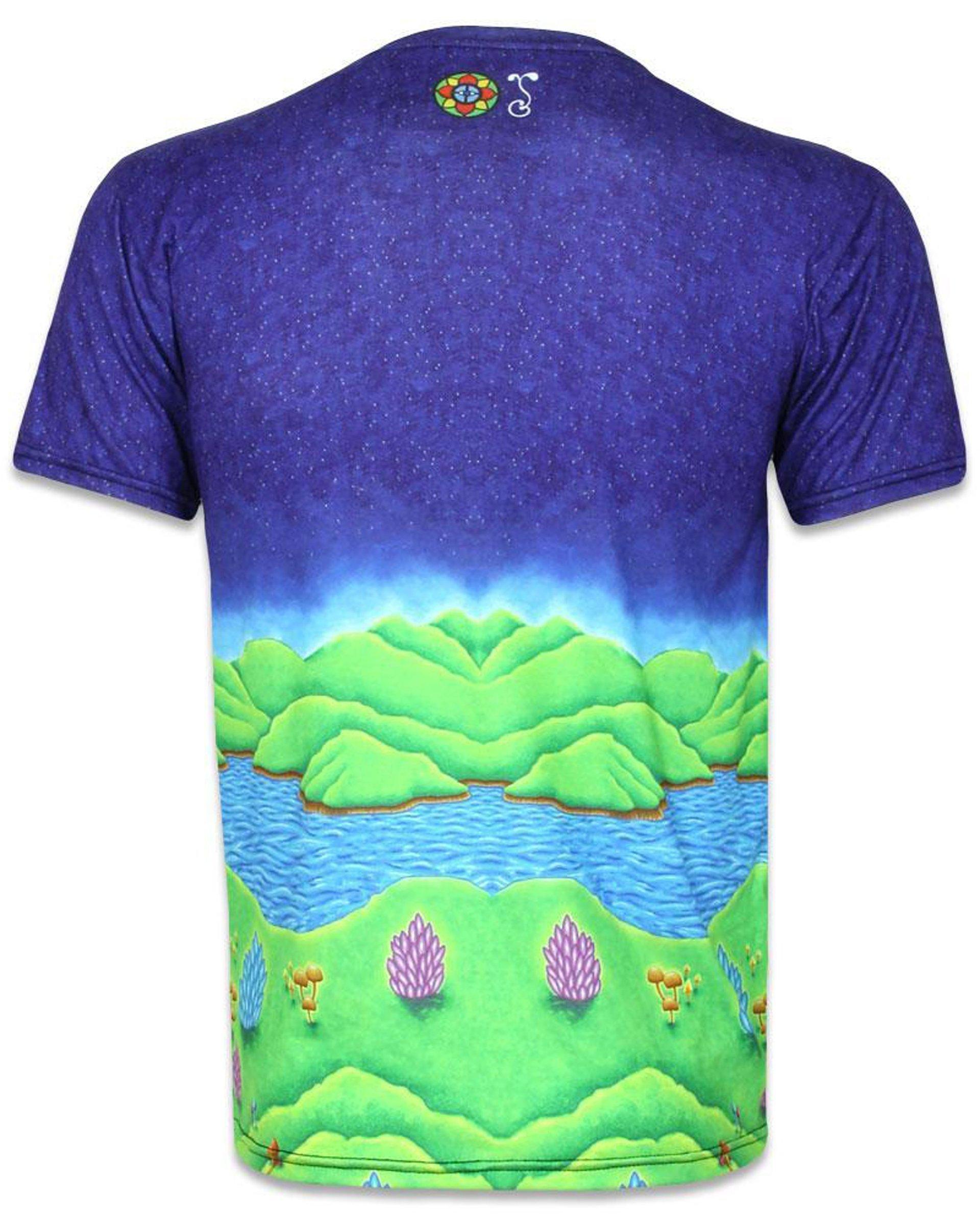 Muncher of Mushroomland Short Sleeve Men's T-Shirt (Back)