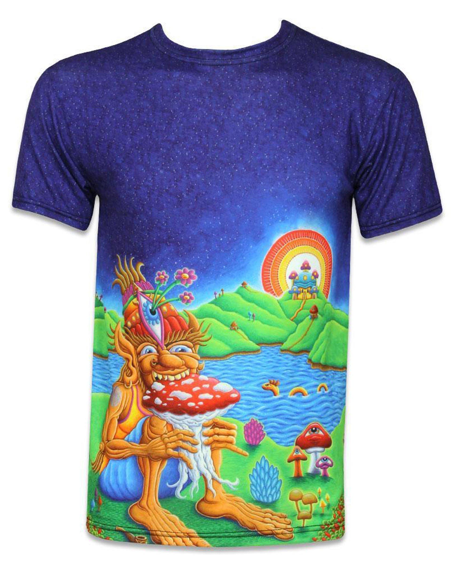 Chris Dyer Muncher of Mushroomland Short Sleeve Men's T-Shirt (Front)