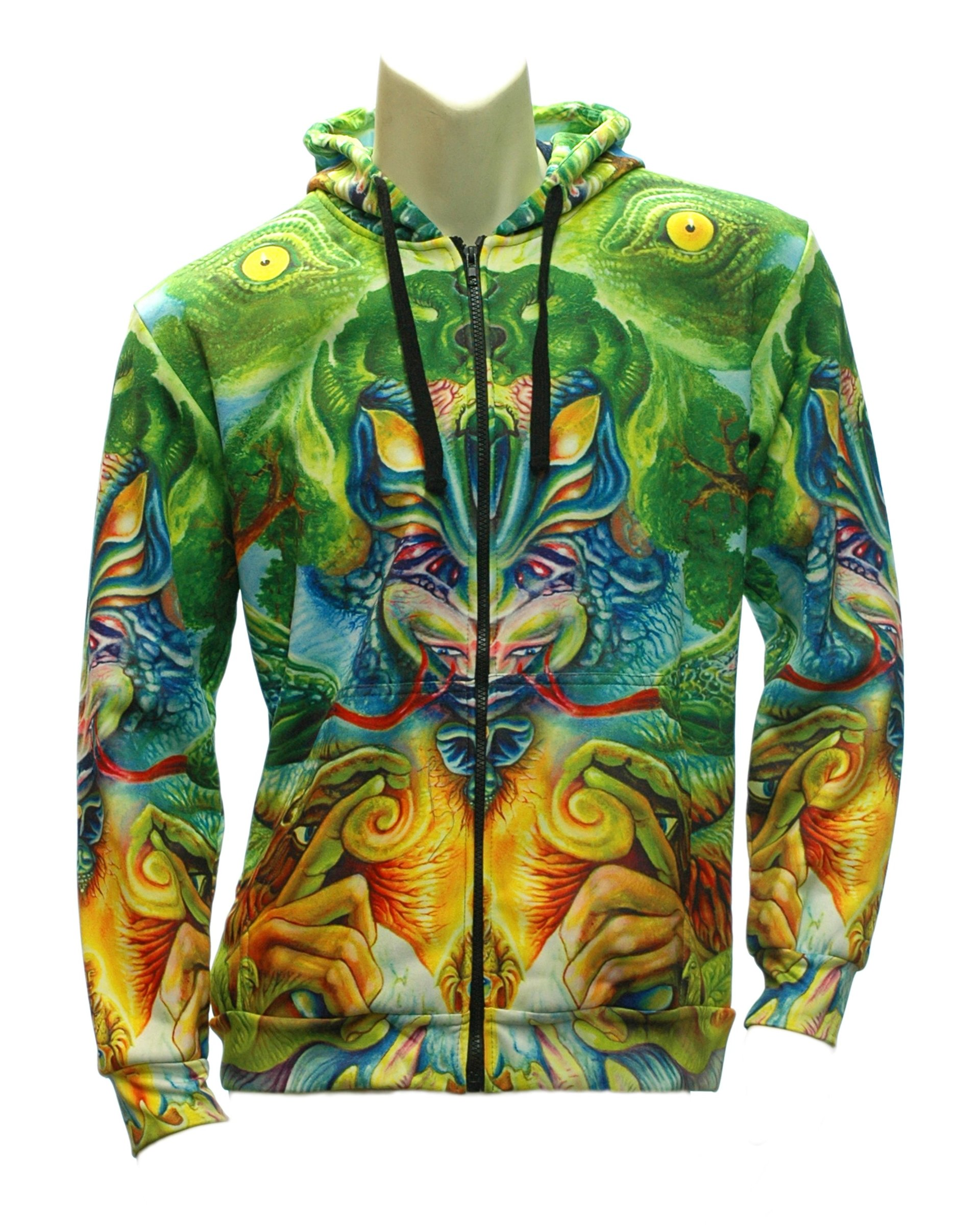 Snake Buddha Zip-up Hoodie (Front)