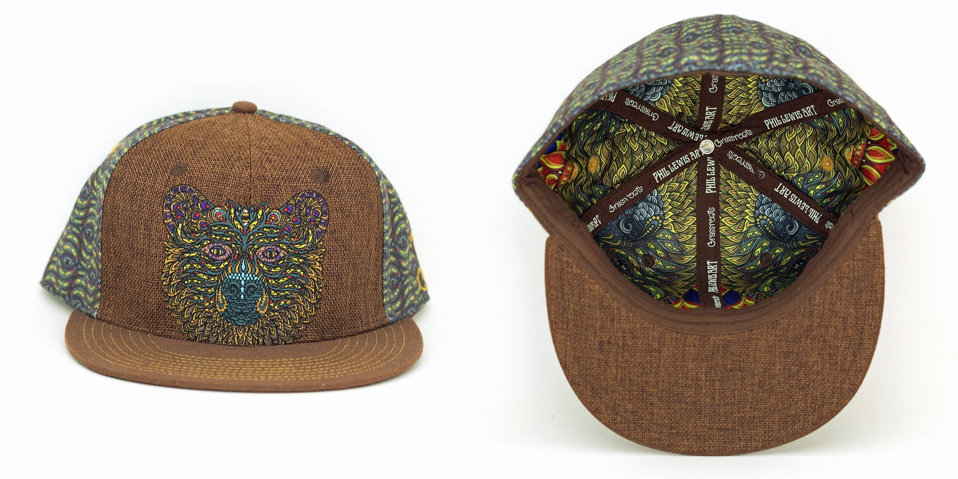 Phil Lewis Bear Brown Fitted Grassroots California Hat