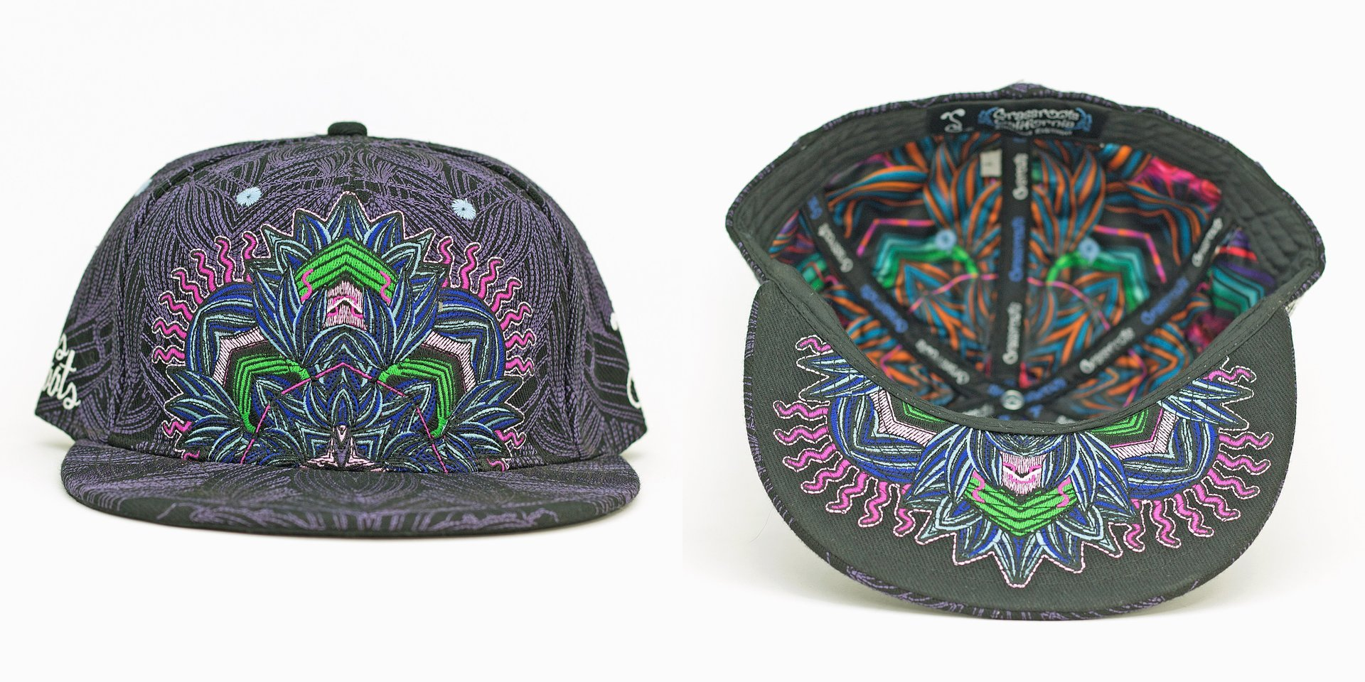 Tropicali Psychedelic Purple Fitted Grassroots California Hat