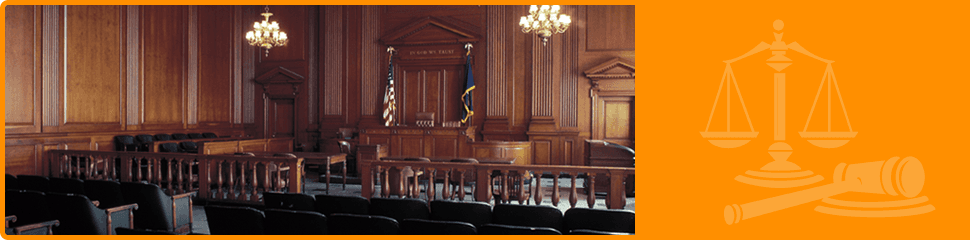 Inside view of courtroom
