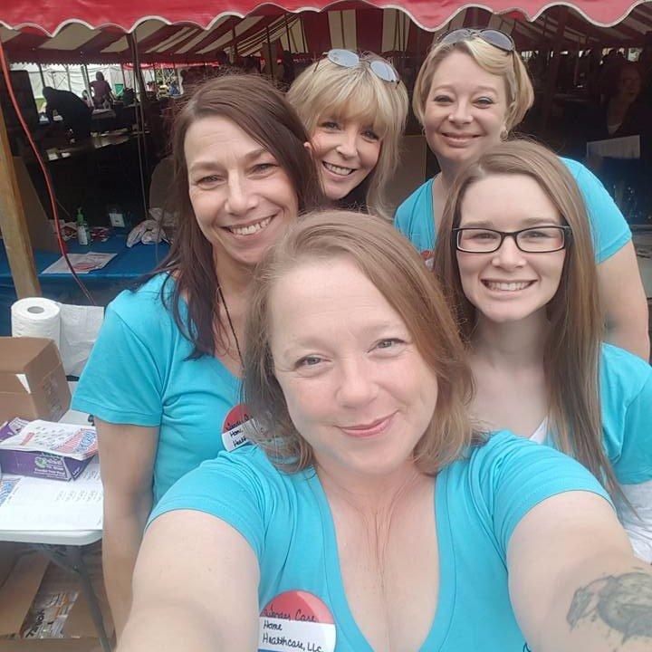 center-Mandy Hatt, left-Tami Espich-Owner, back row left-Trish Tyler, back row right-Heidi Wilburn, right-Ashley McIver